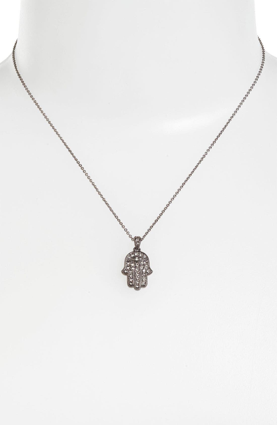 Hamsa Pendant Necklace,                             Alternate thumbnail 2, color,                             001