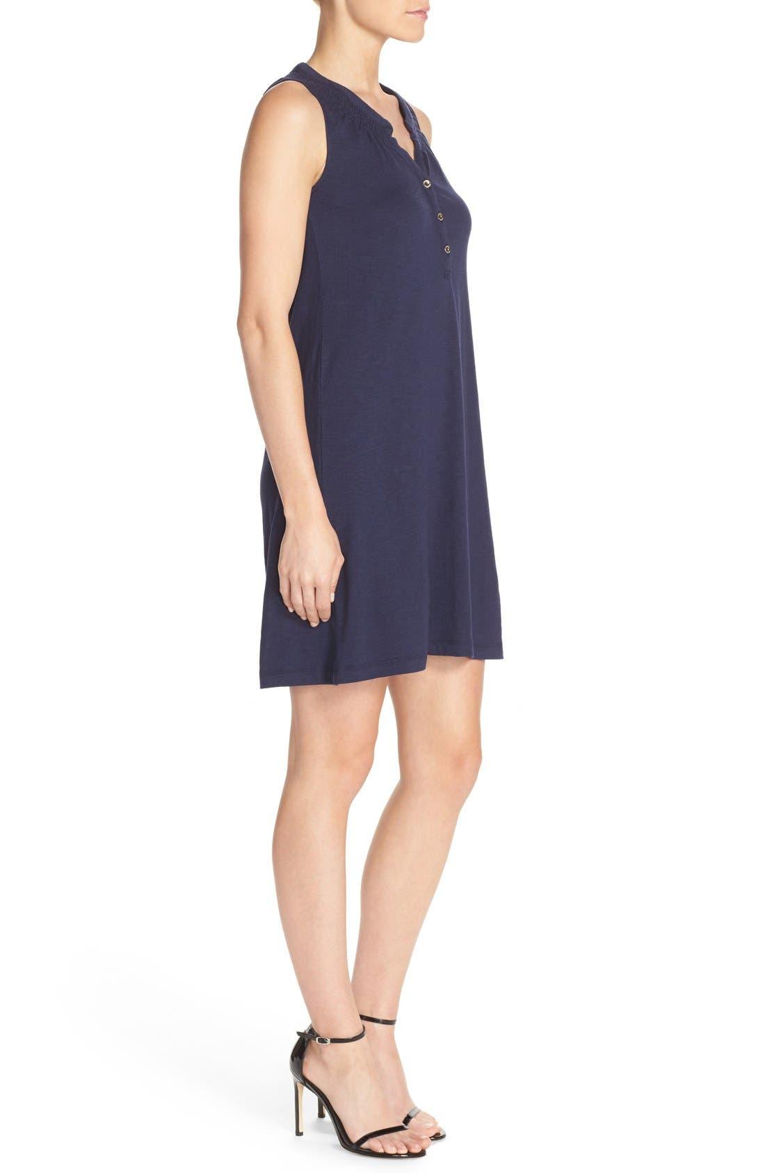 'Essie' Cotton & Modal A-Line Dress,                             Alternate thumbnail 3, color,                             408