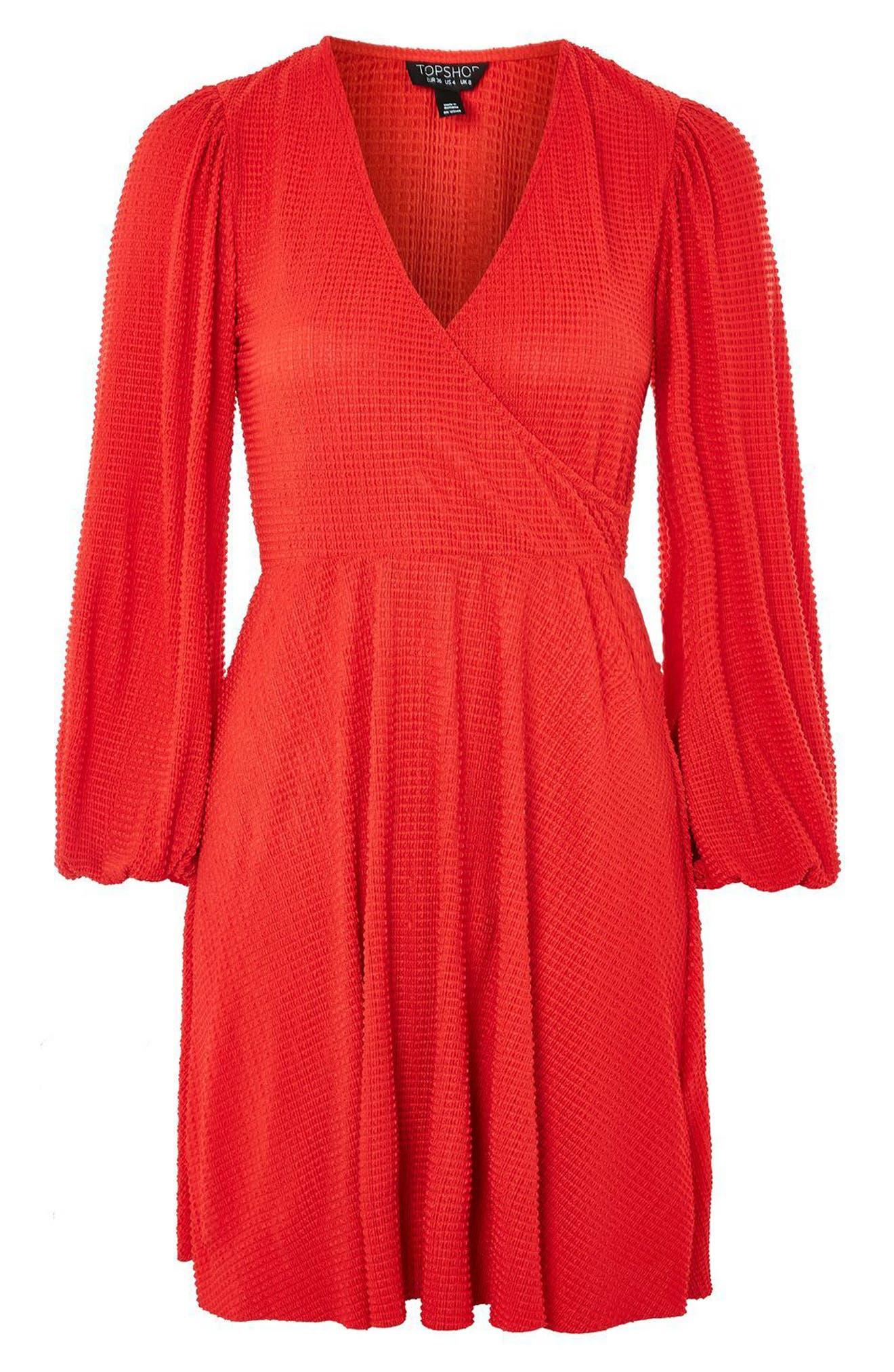 Plissé Wrap Dress,                             Alternate thumbnail 4, color,                             600