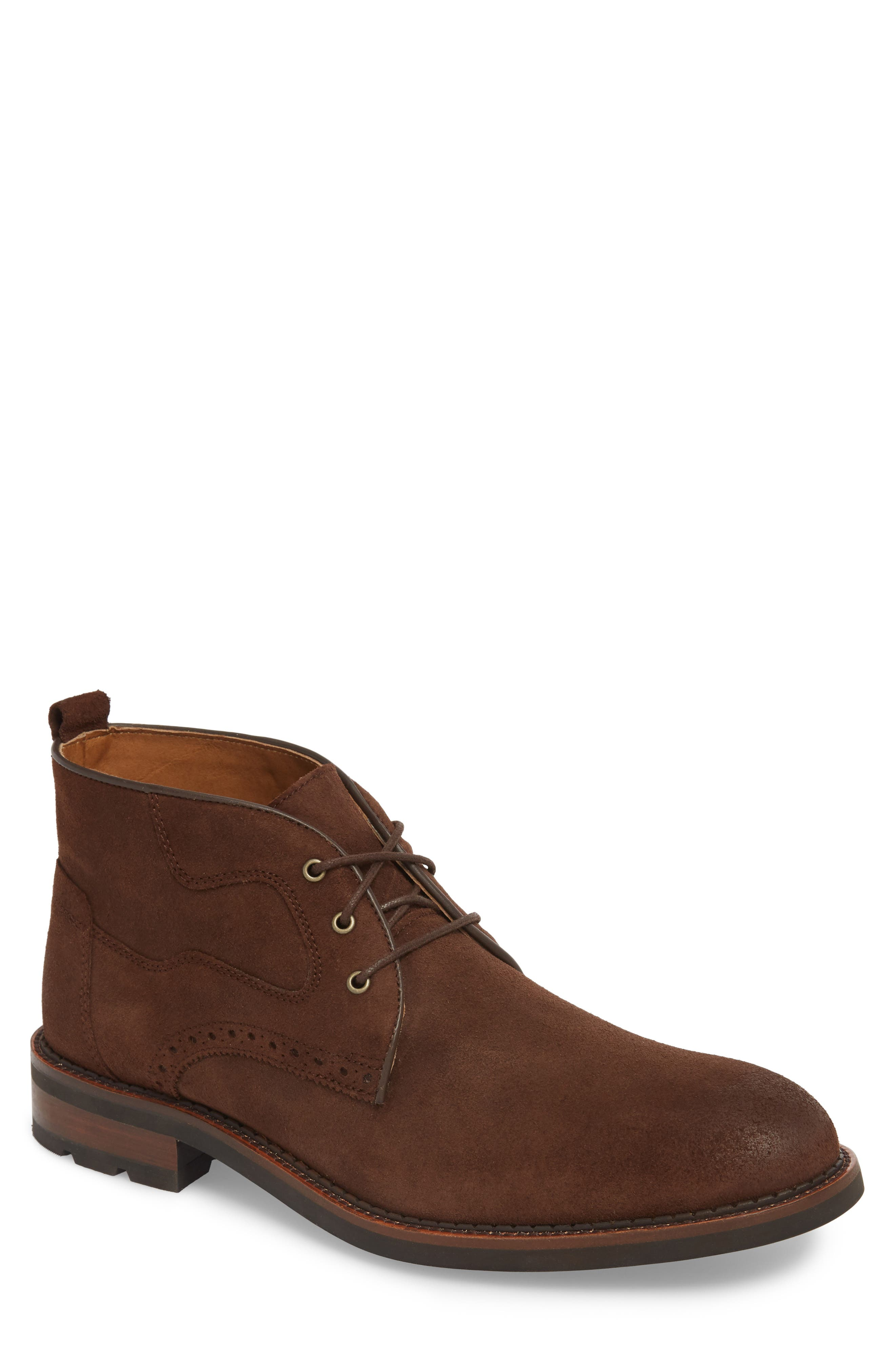 Fullerton Chukka Boot,                         Main,                         color, DARK BROWN