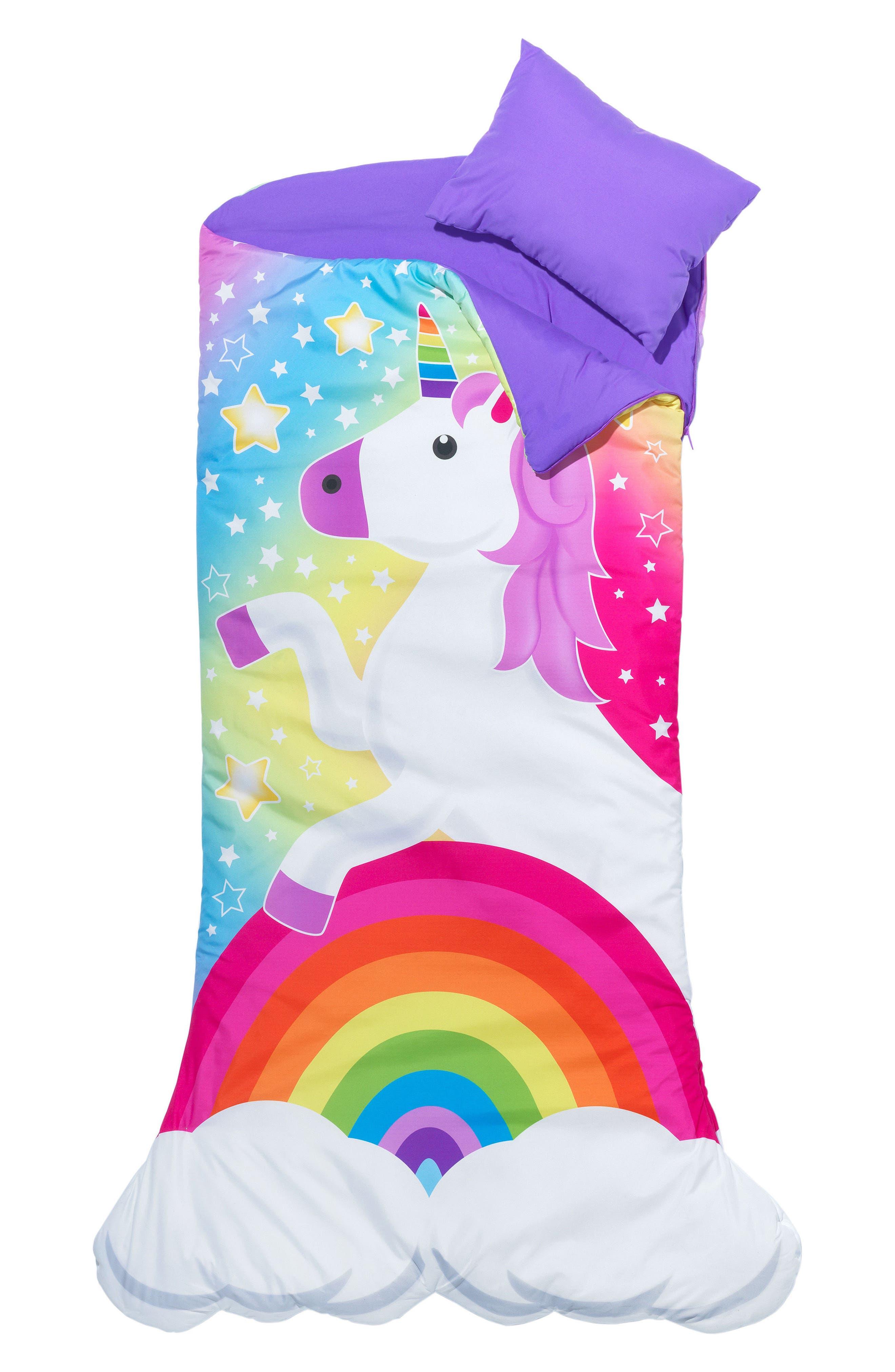 Unicorn Sleeping Bag Set,                             Main thumbnail 1, color,                             MULTI