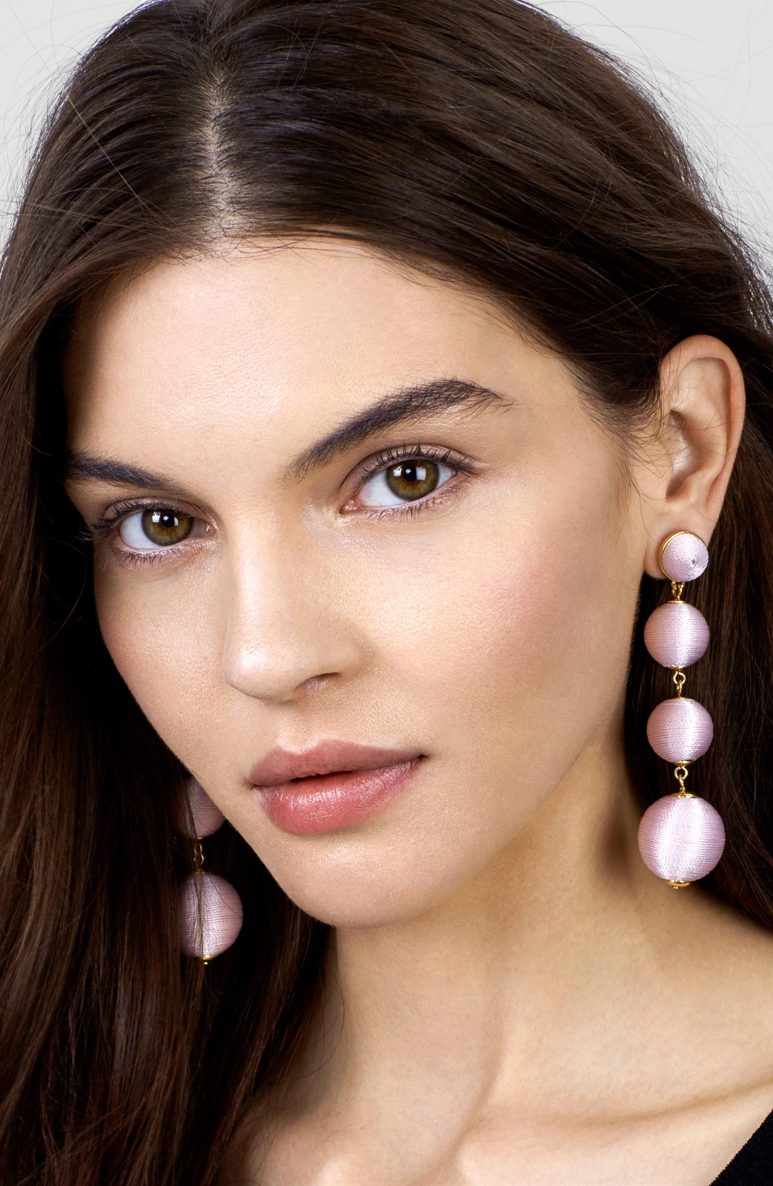 Criselda Ball Shoulder Duster Earrings,                             Alternate thumbnail 18, color,