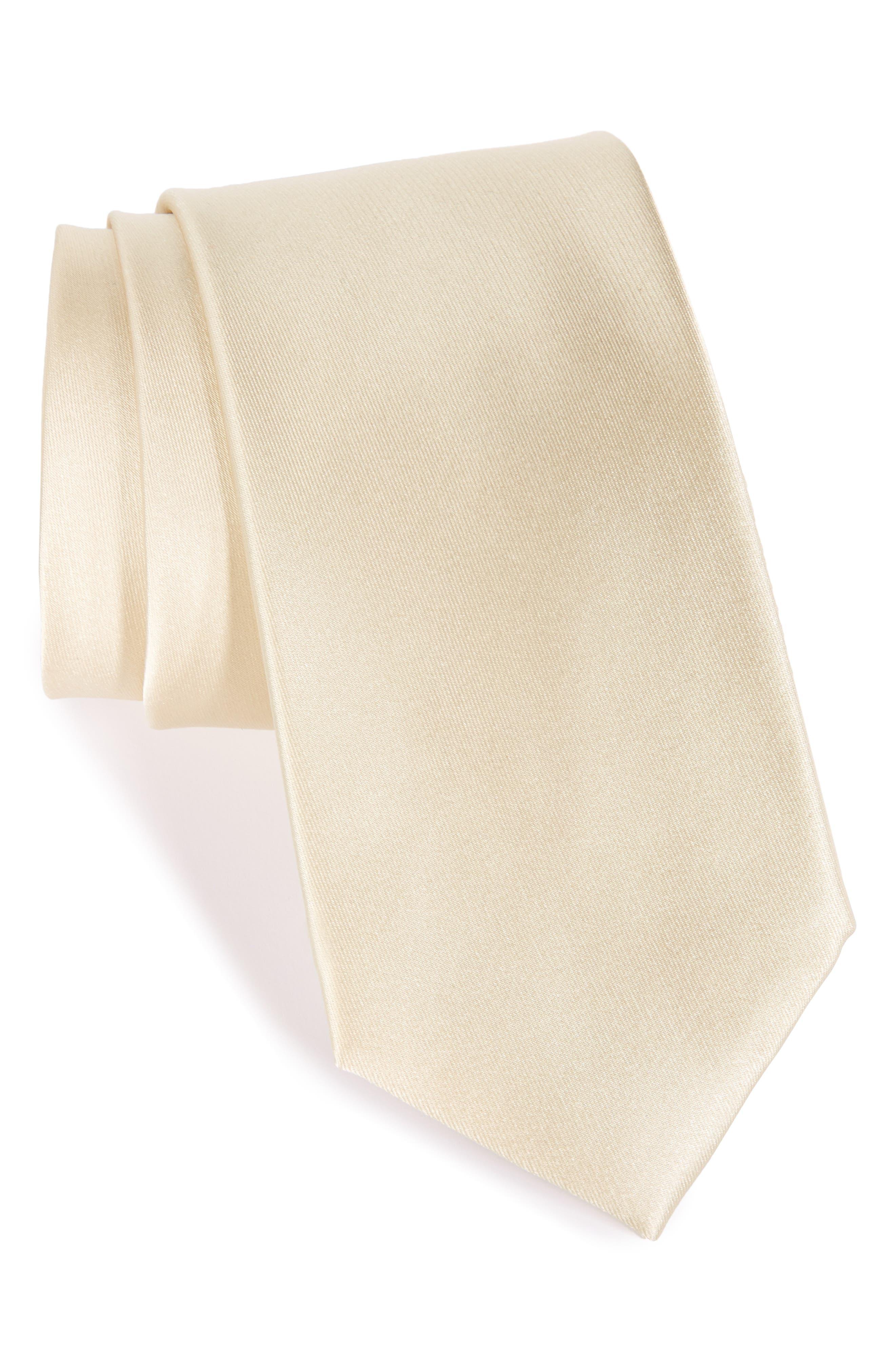 Solid Satin Silk Tie,                             Main thumbnail 13, color,