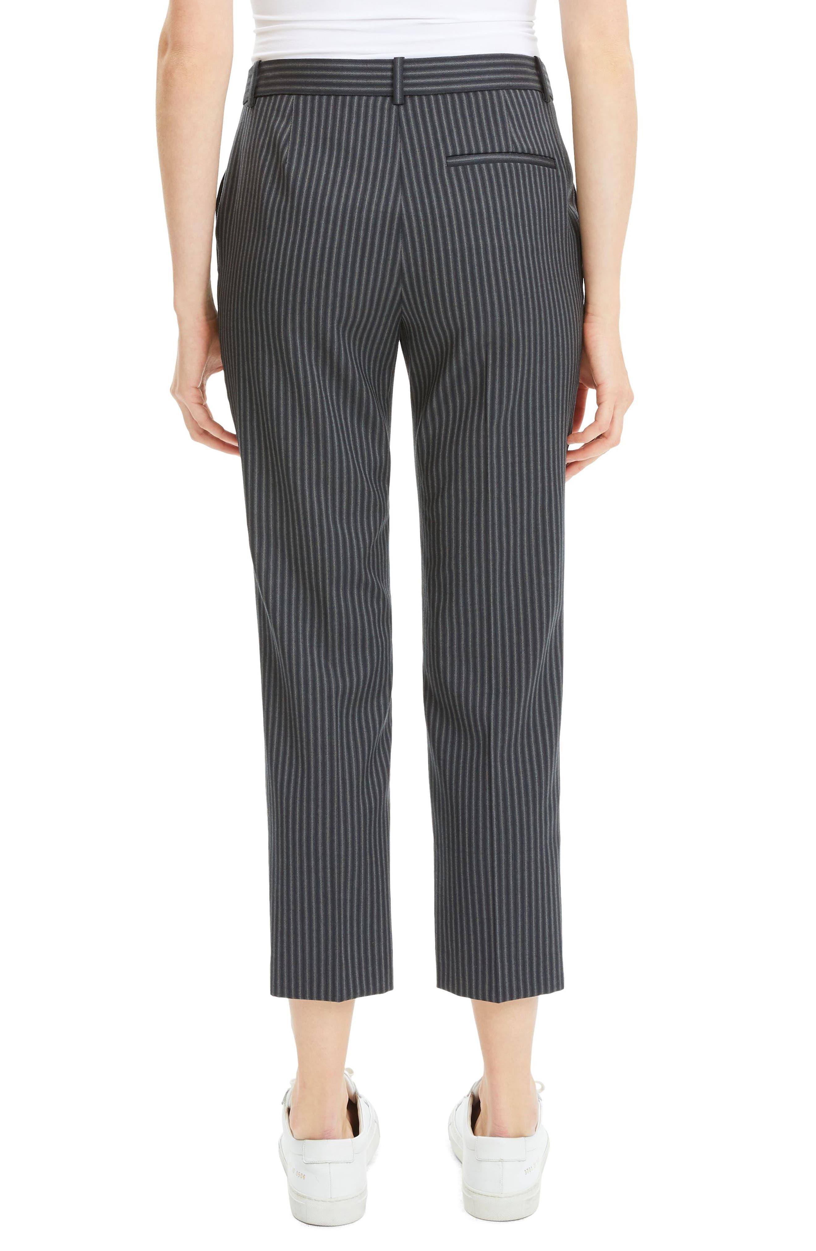 Crop Wool Pants,                             Alternate thumbnail 2, color,                             BLACK