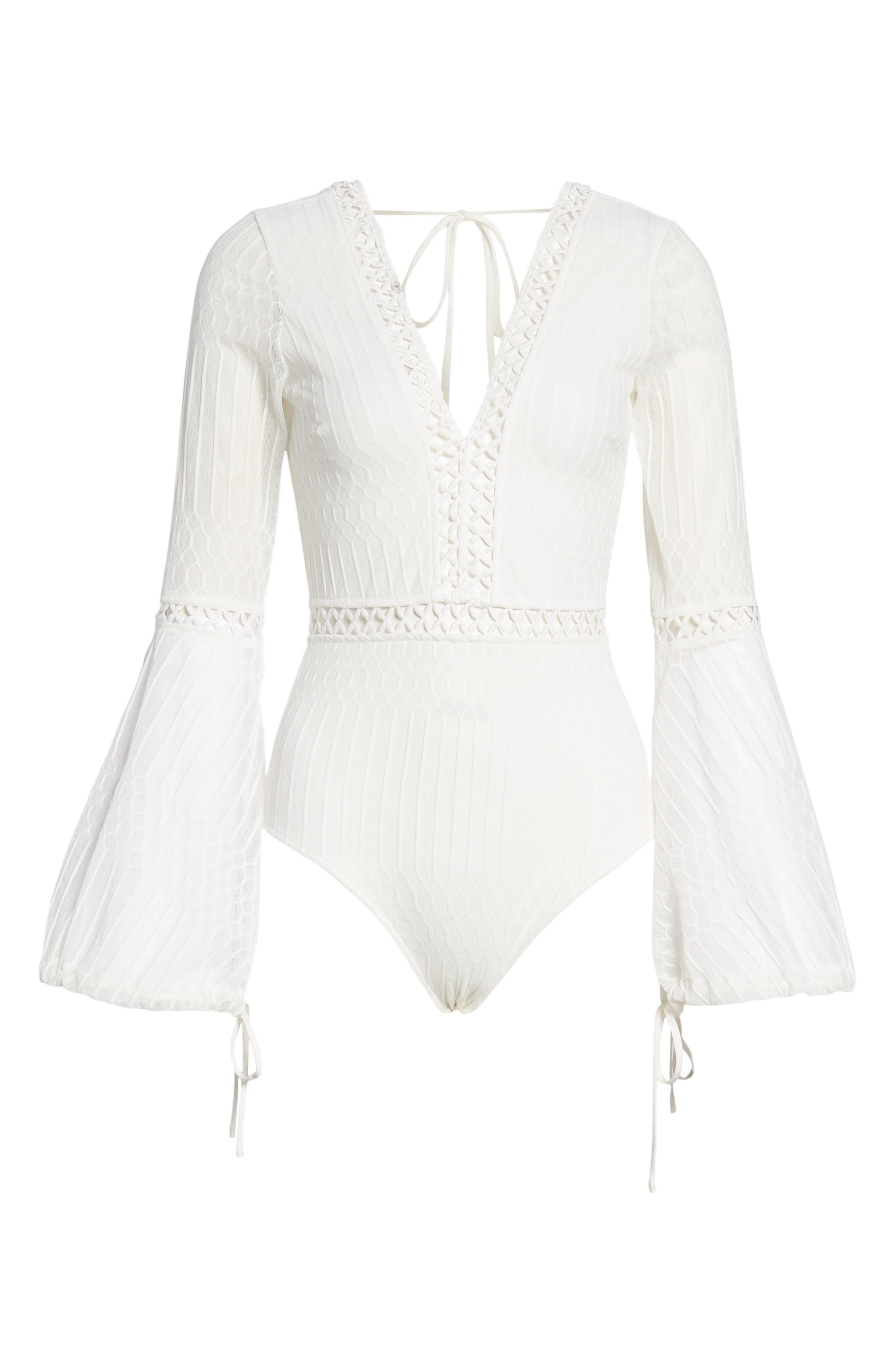 Alaska Bodysuit,                             Alternate thumbnail 6, color,                             WHITE