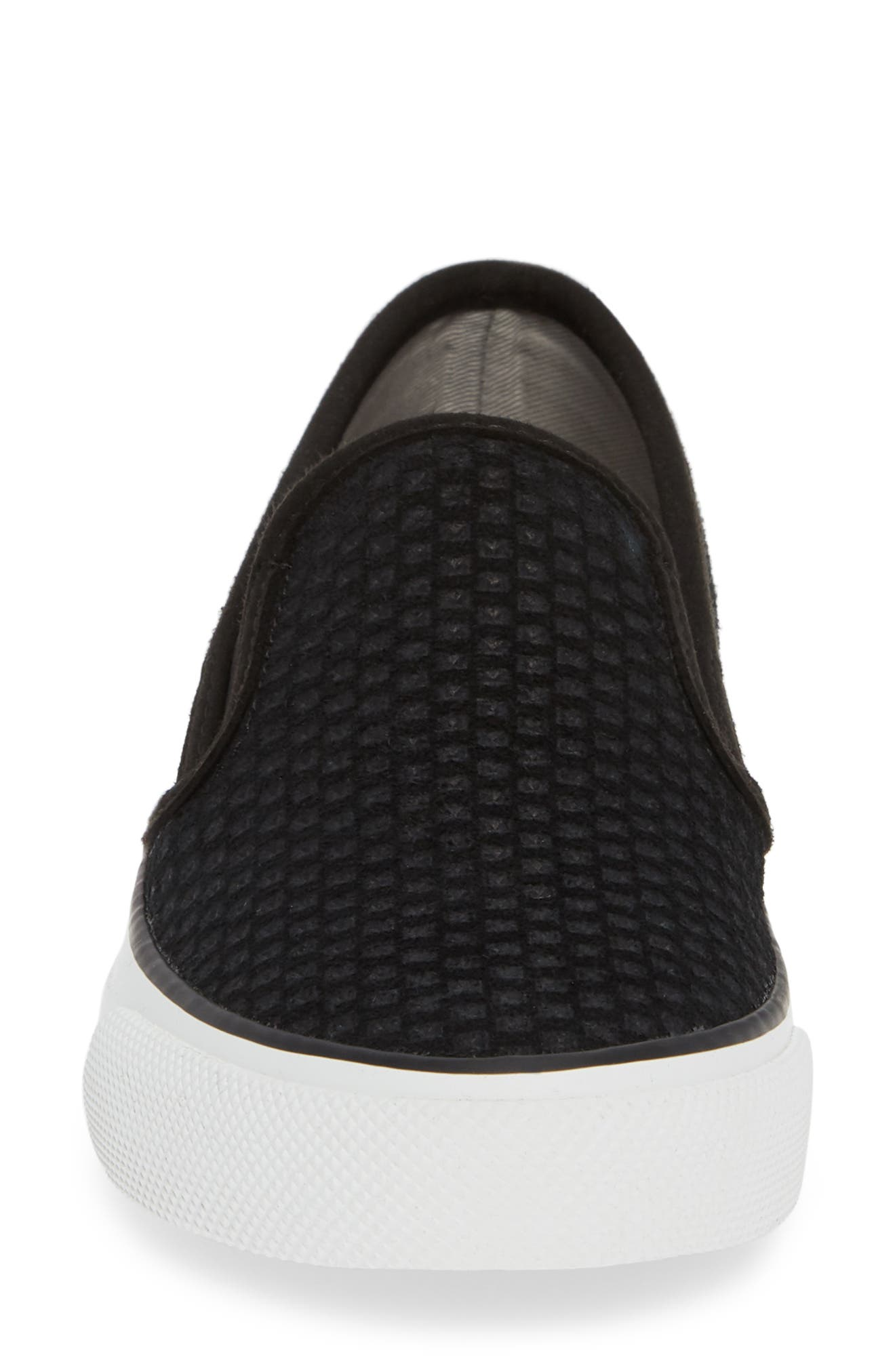 Seaside Embossed Slip-On Sneaker,                             Alternate thumbnail 4, color,                             001
