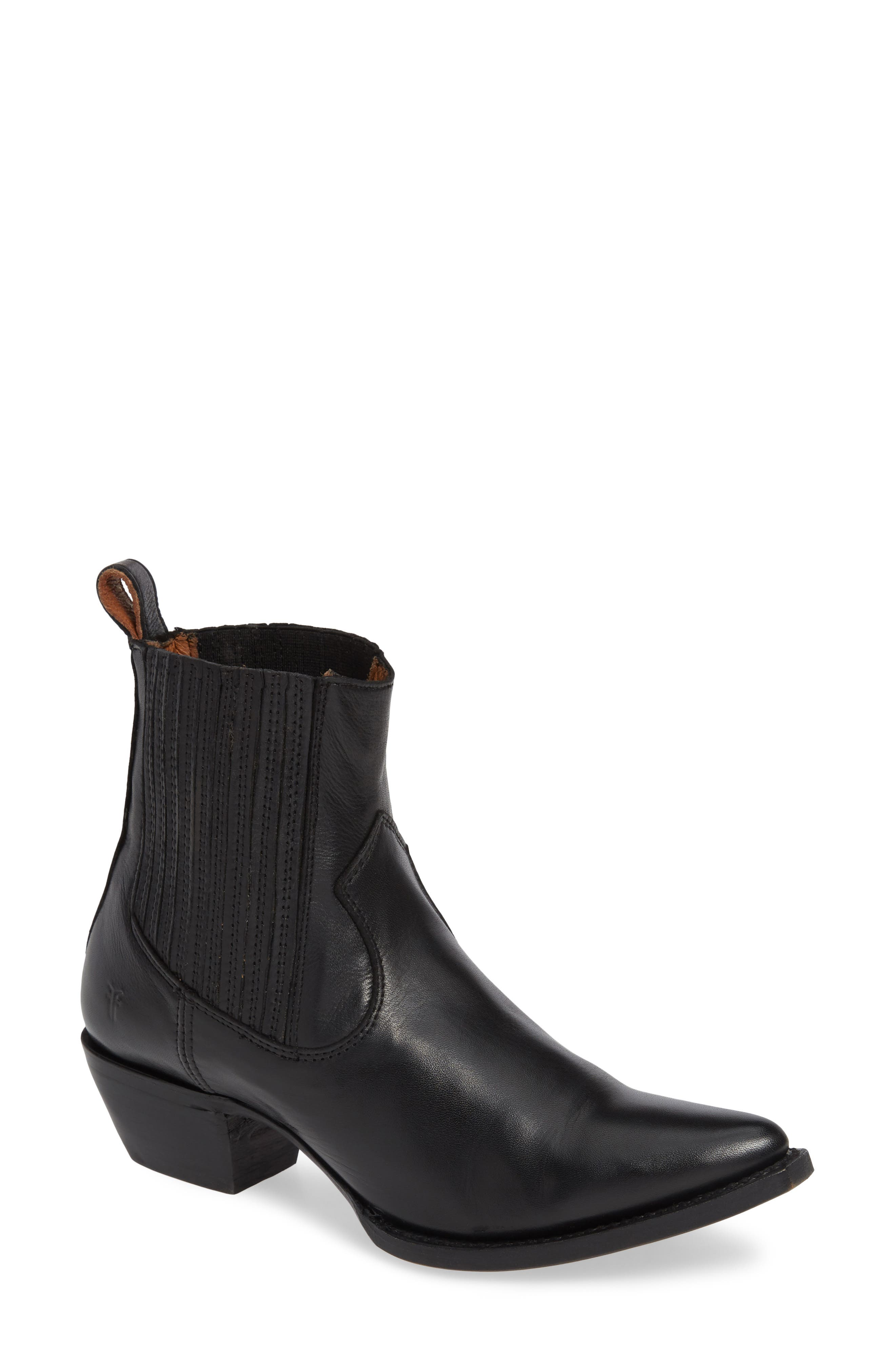 Sacha Western Bootie,                         Main,                         color, 001