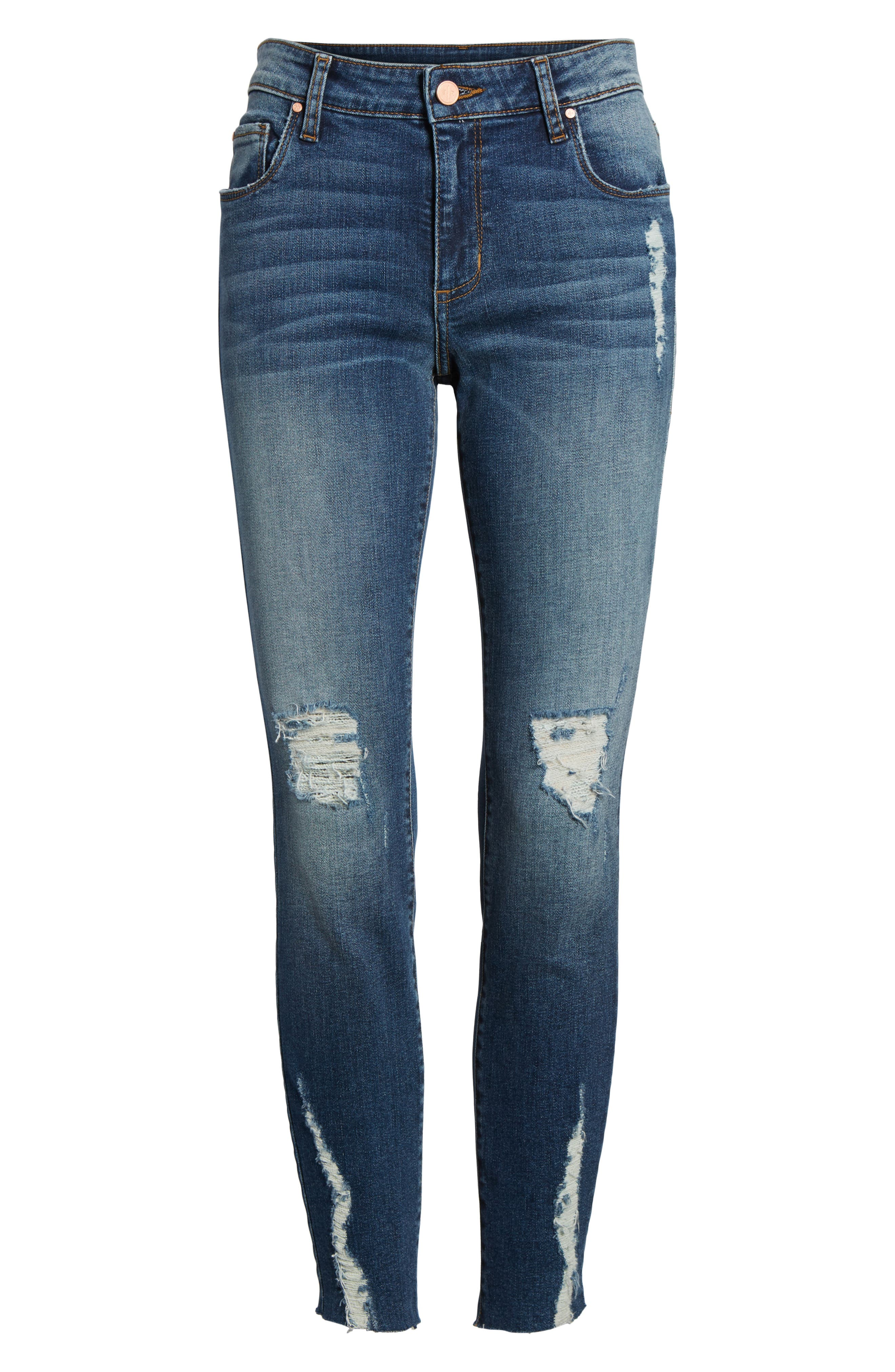 Decon Distressed Skinny Jeans,                             Alternate thumbnail 6, color,
