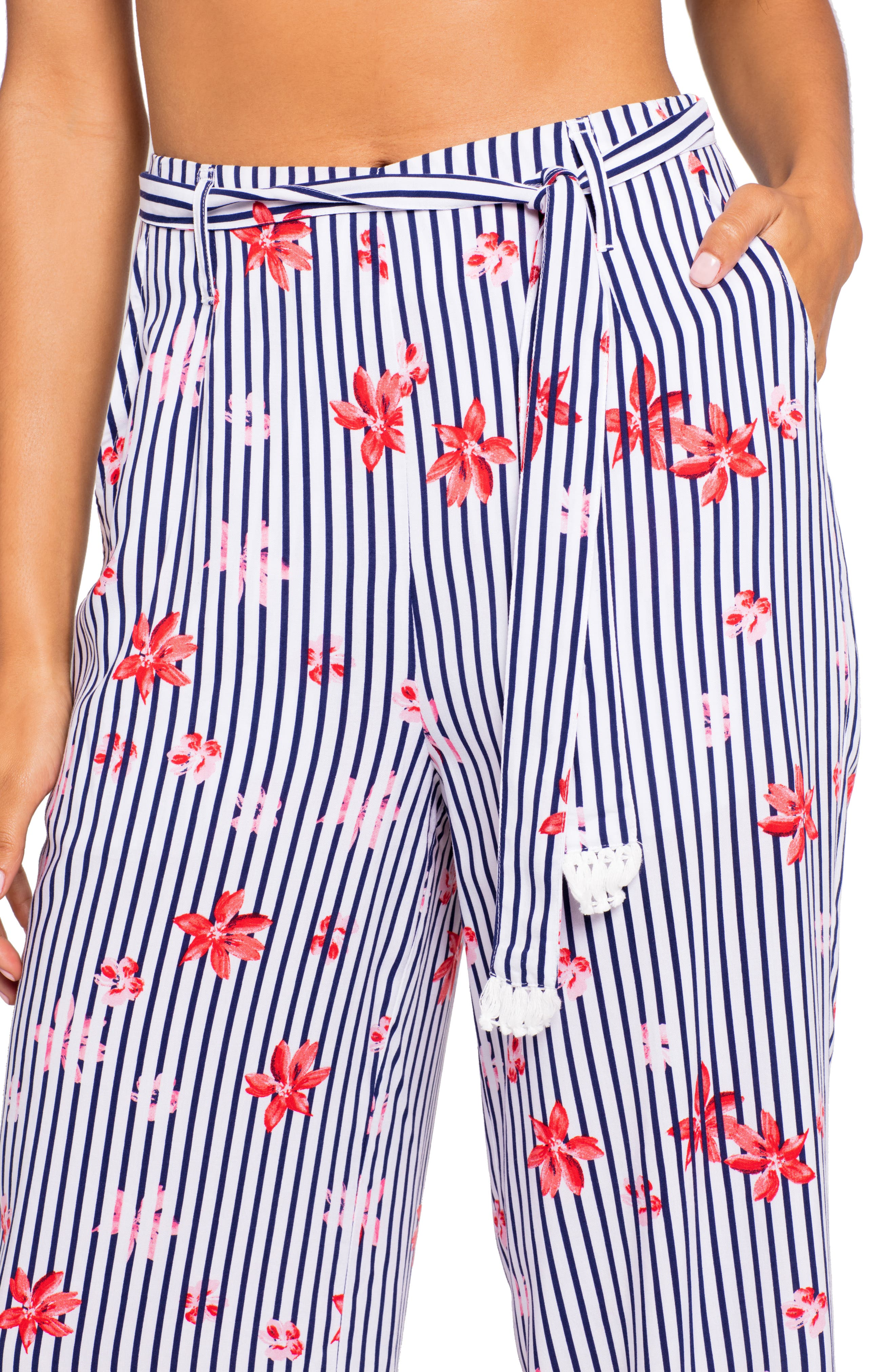 Floral Bay Smith Cover-Up Pants,                             Alternate thumbnail 3, color,                             FLORAL BAY