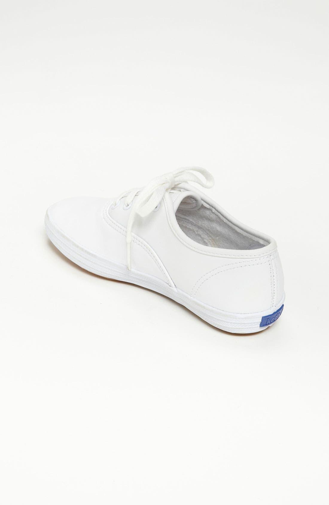 'Champion' Sneaker,                             Alternate thumbnail 2, color,                             WHITE LEATHER