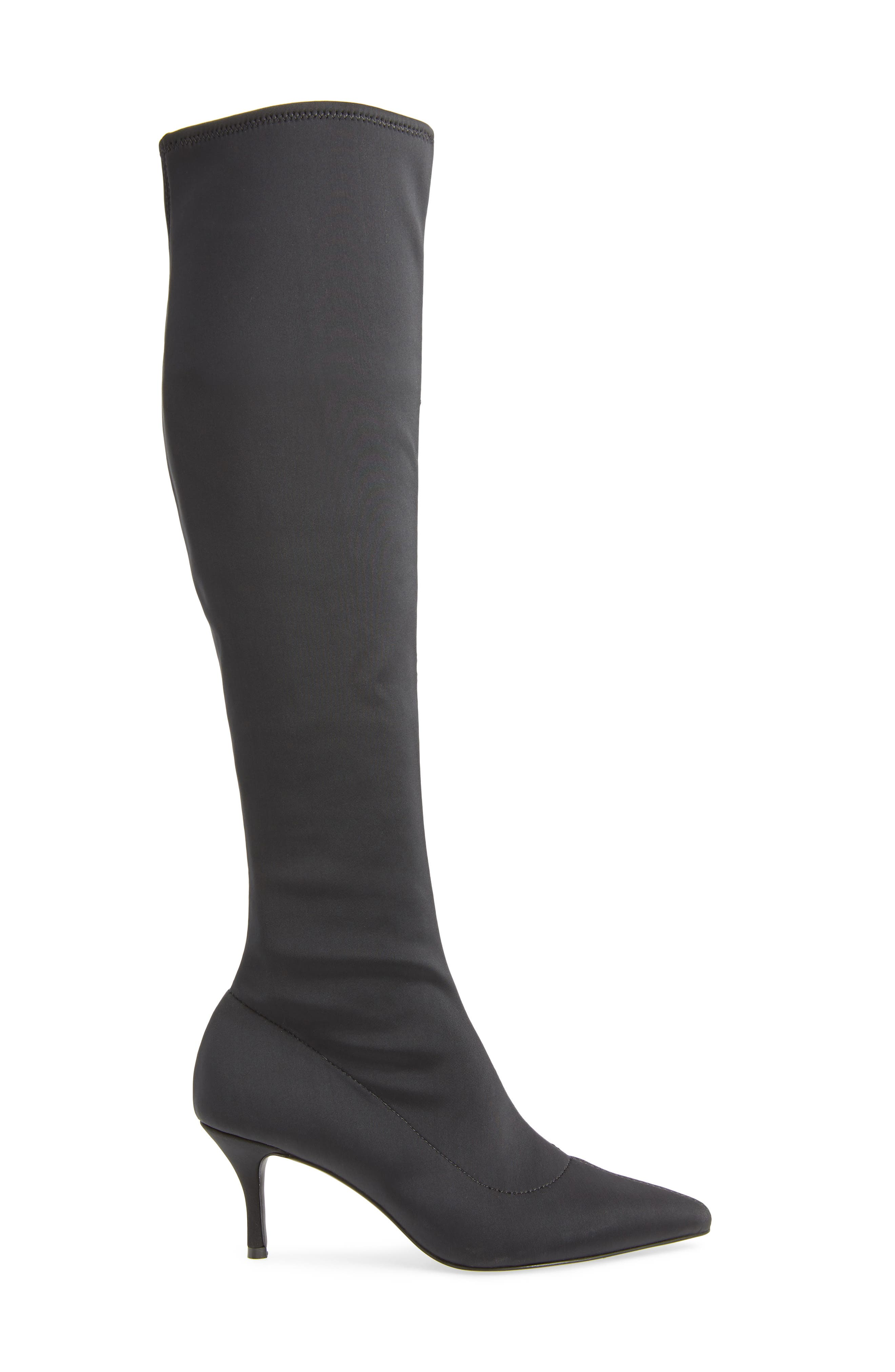 Aerin Over the Knee Boot,                             Alternate thumbnail 3, color,                             BLACK STRETCH SMOOTH