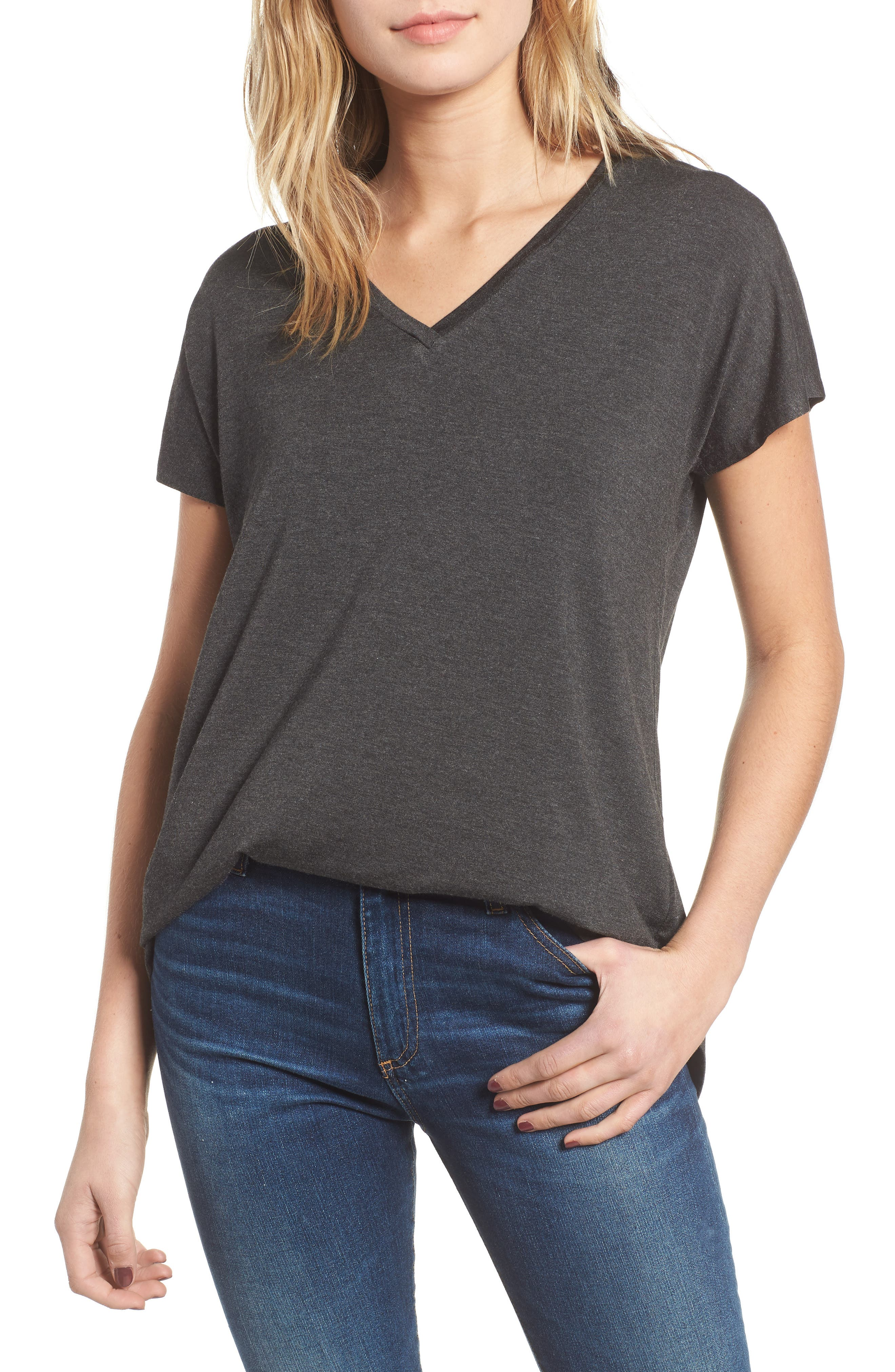 AMOUR VERT Liv Dolman Tee in Anthracite
