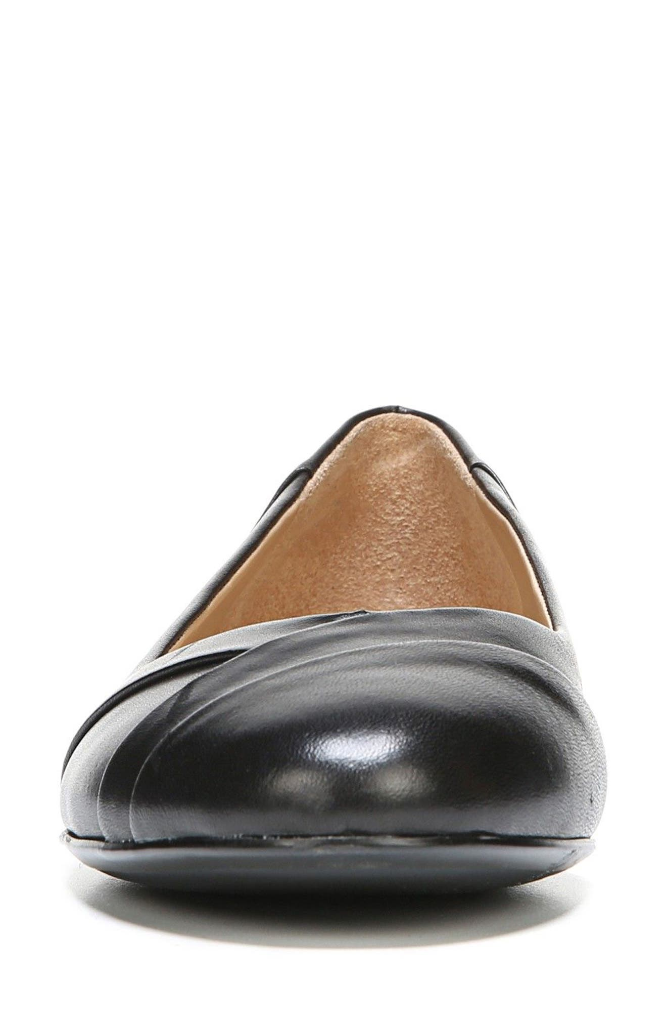 Gilly Flat,                             Alternate thumbnail 4, color,                             BLACK LEATHER
