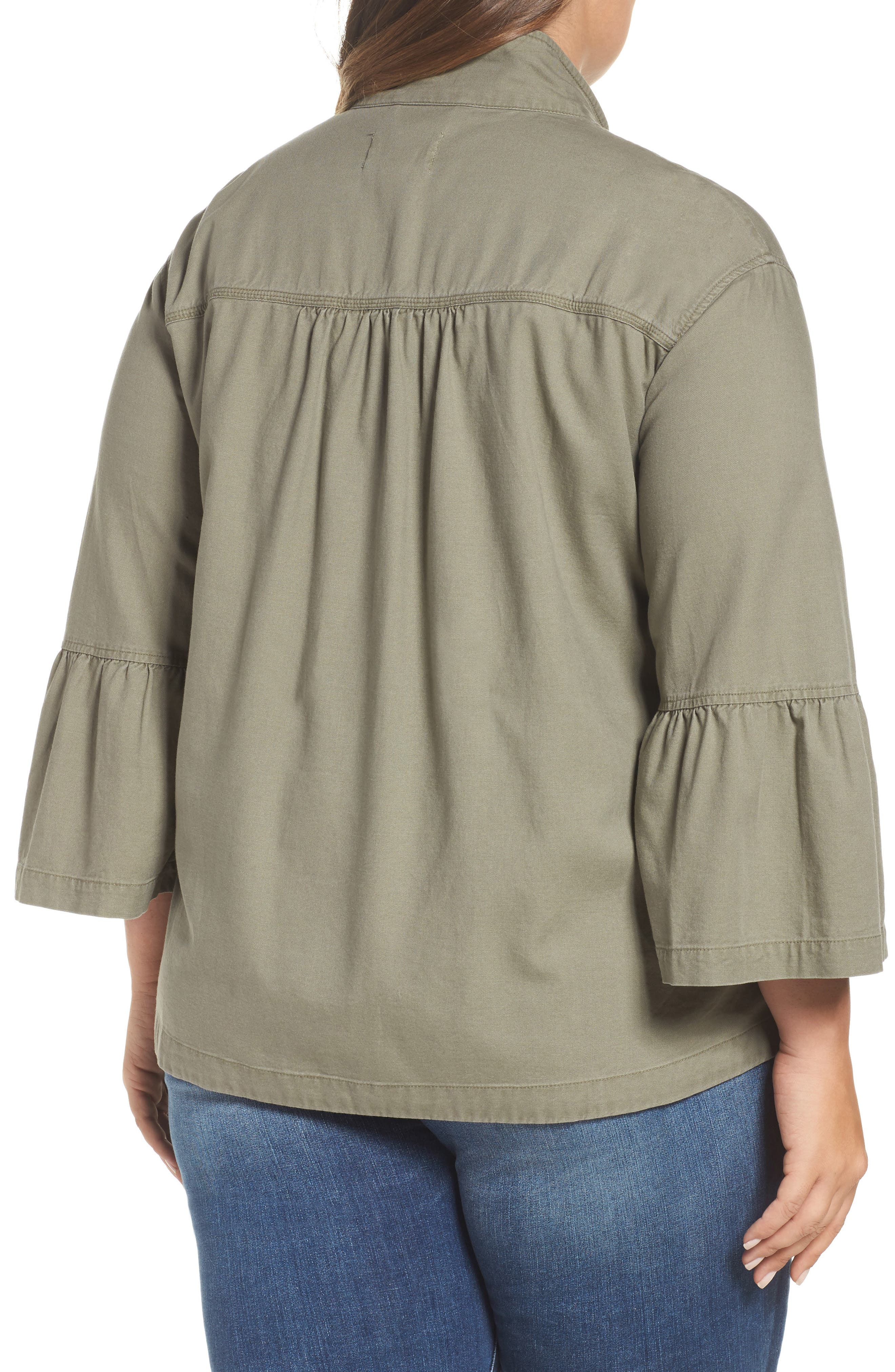 Bell Sleeve Utility Jacket,                             Alternate thumbnail 2, color,                             315