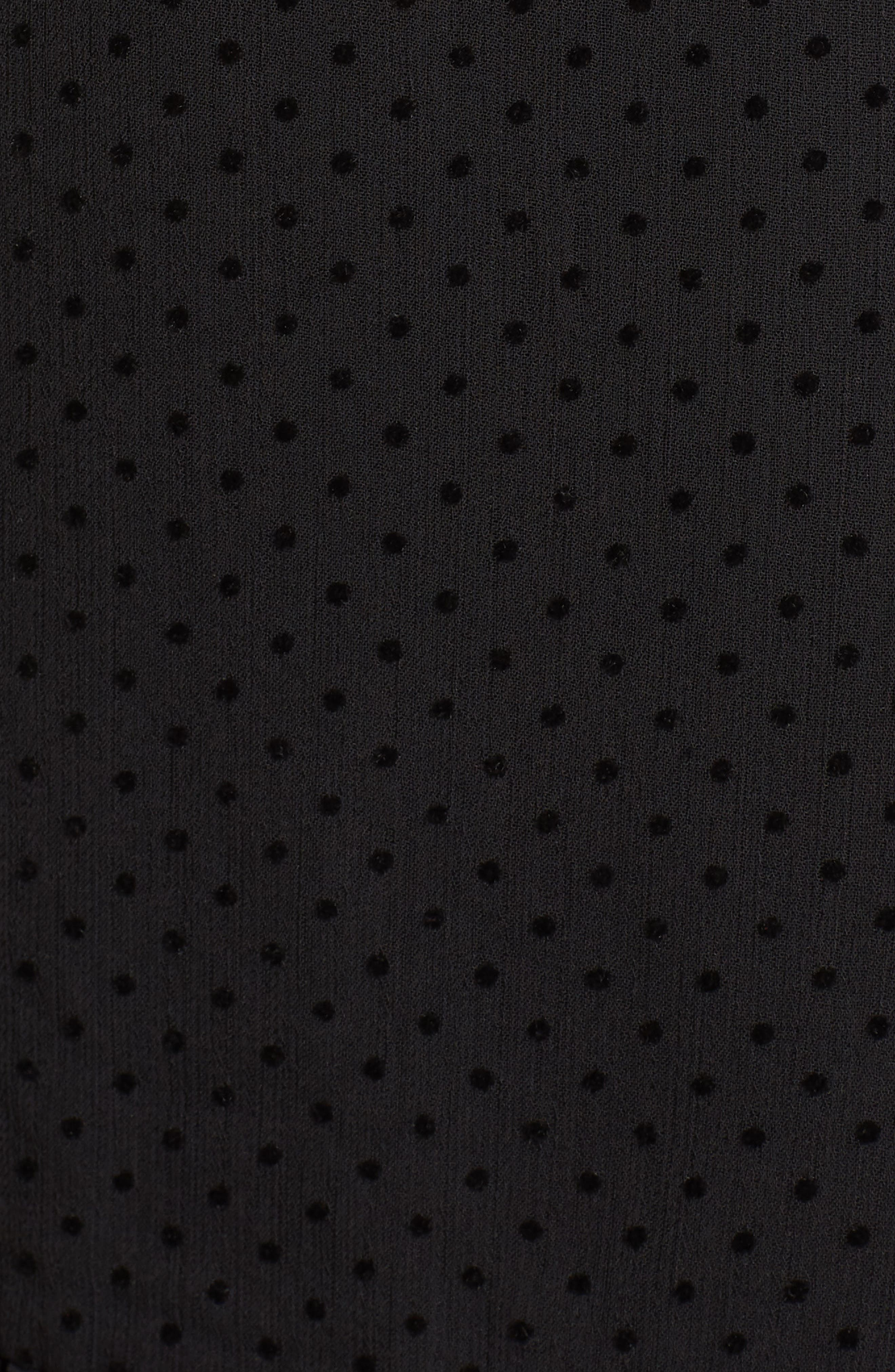 Horizons Bell Sleeve Minidress,                             Alternate thumbnail 5, color,                             001