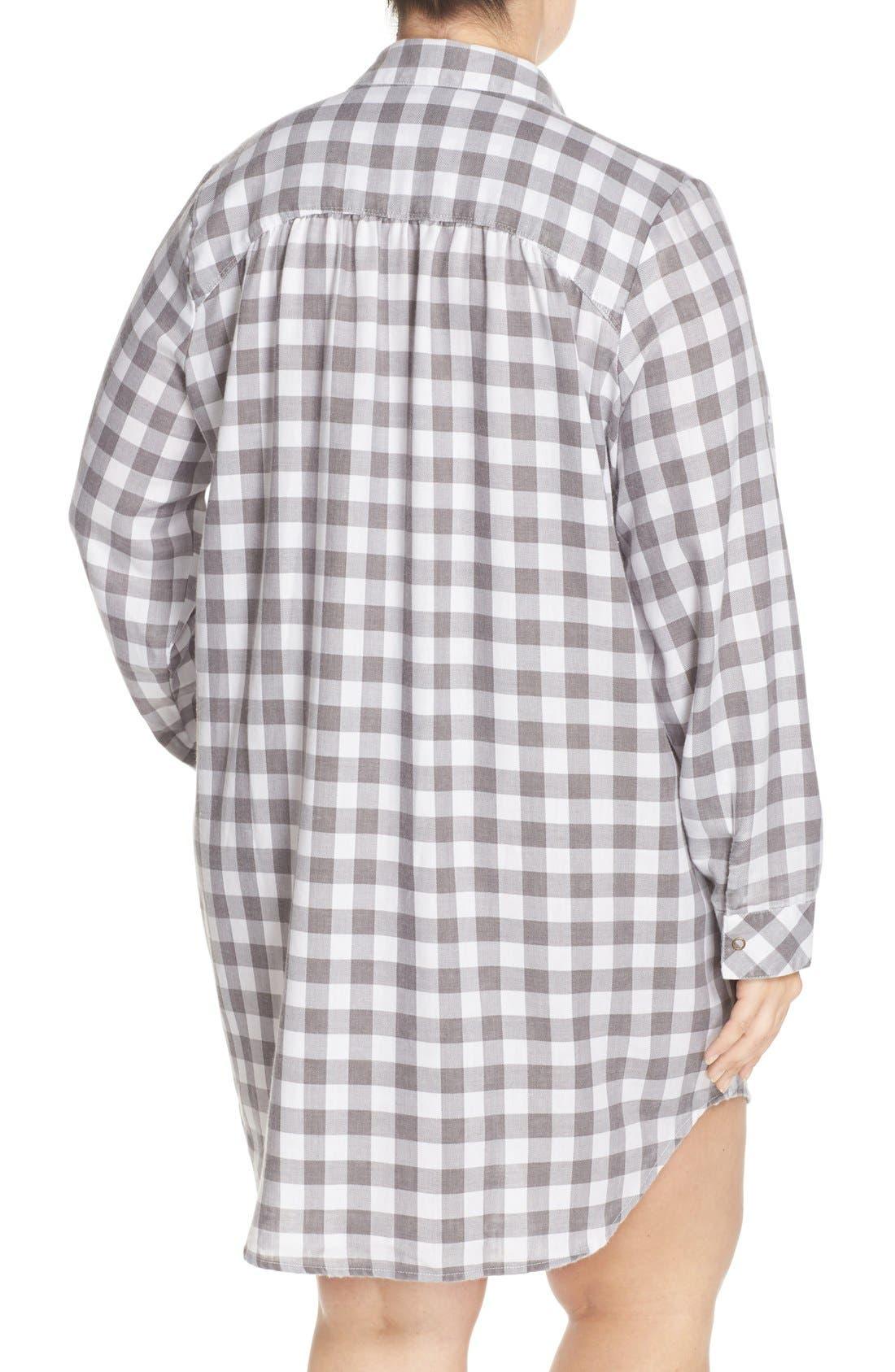 Plaid Night Shirt,                             Alternate thumbnail 10, color,