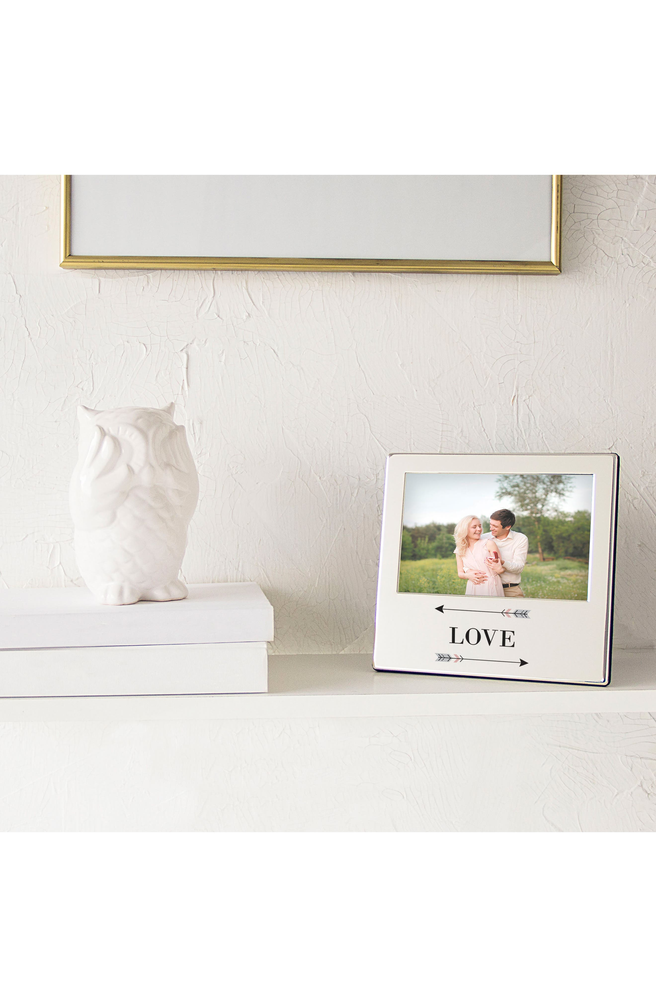 Love Arrows Silver Picture Frame,                             Alternate thumbnail 7, color,                             040