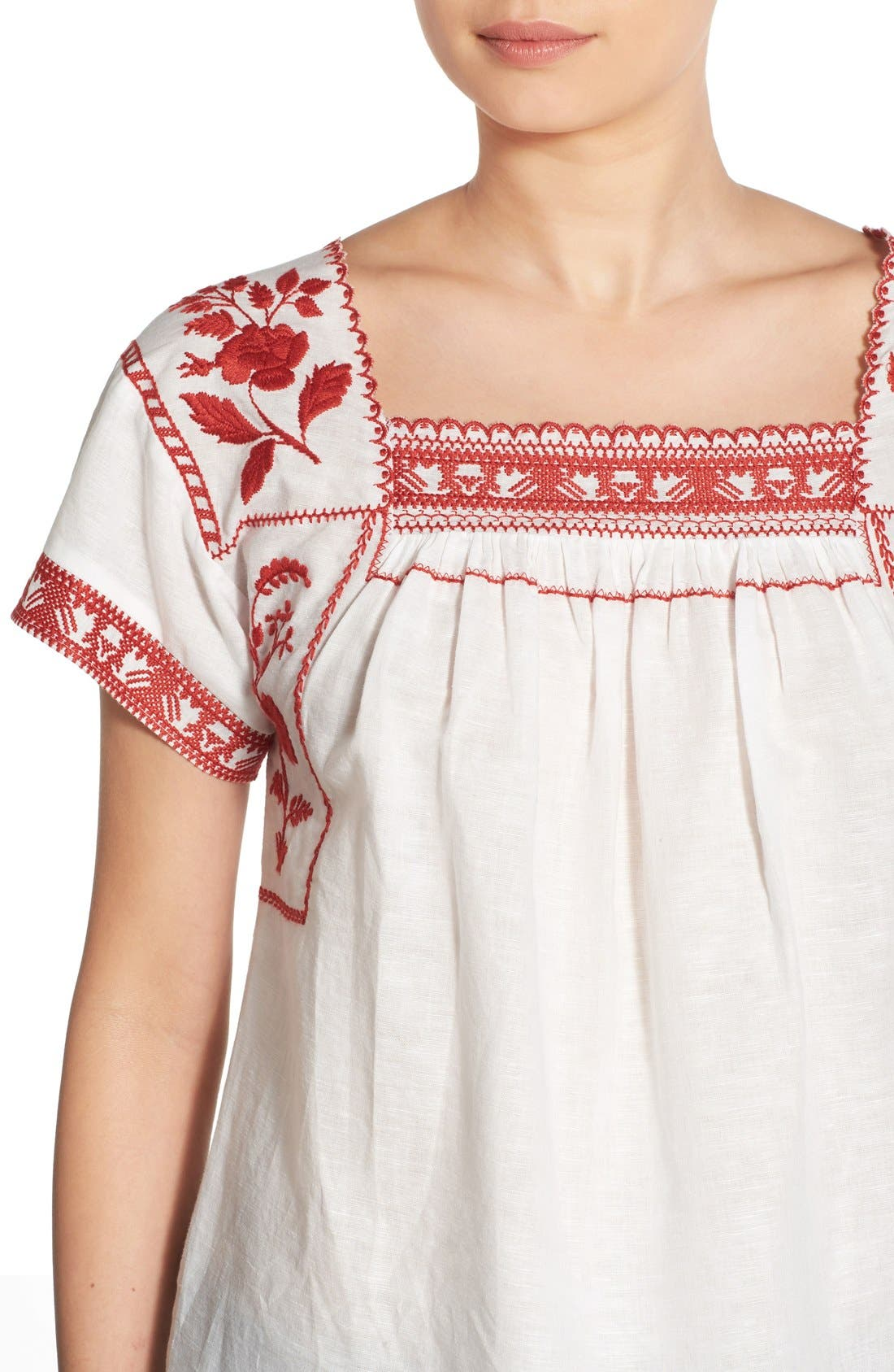 Wildfield Embroidered Top,                             Alternate thumbnail 8, color,
