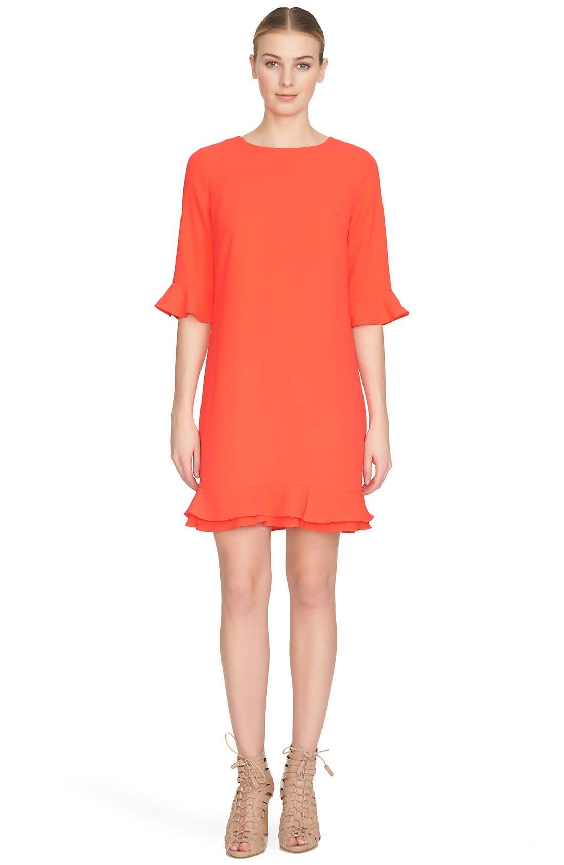'Kate' Ruffle Hem Shift Dress,                             Alternate thumbnail 27, color,