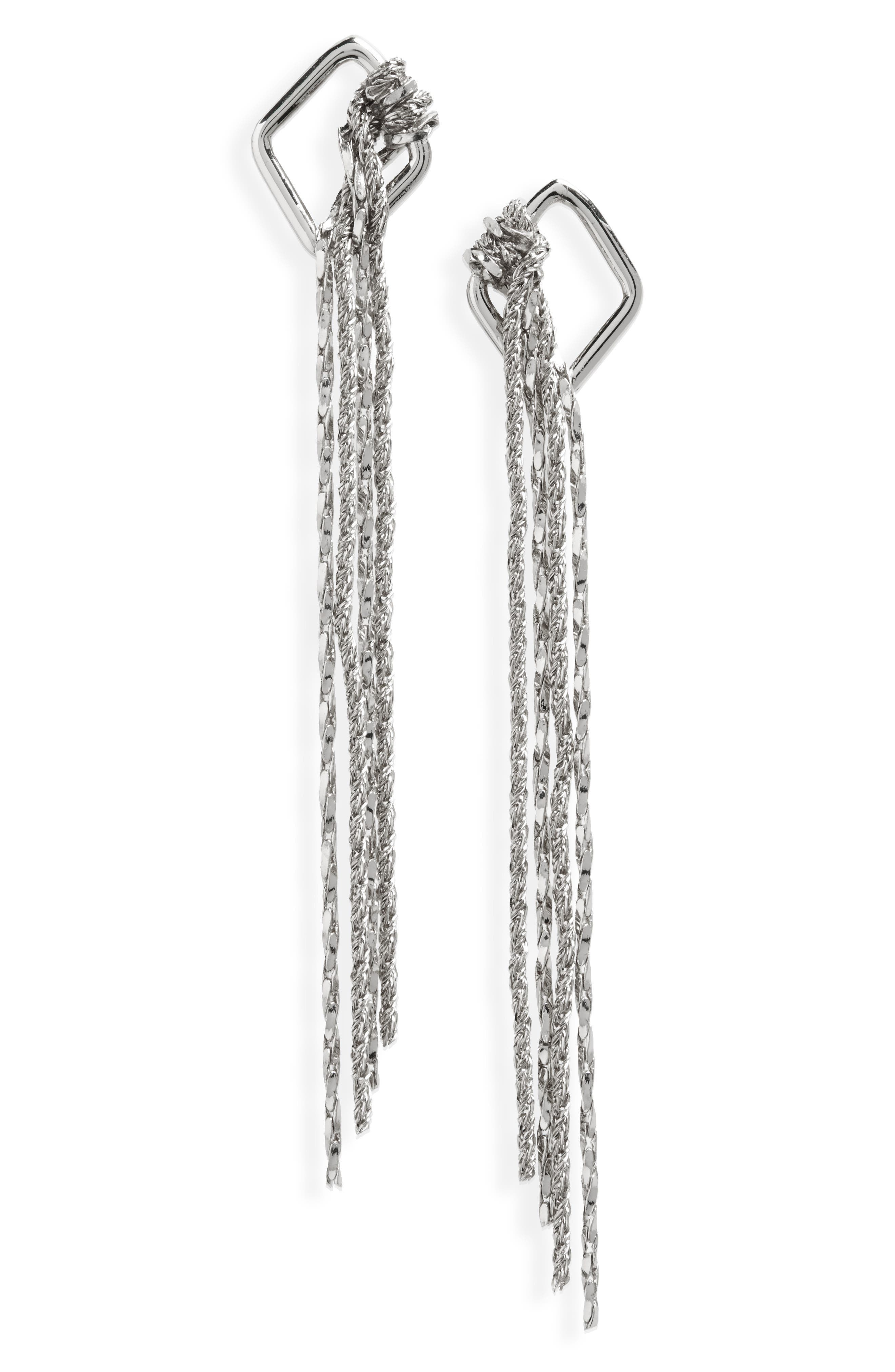 Knotted Fringe Earrings,                         Main,                         color, 040
