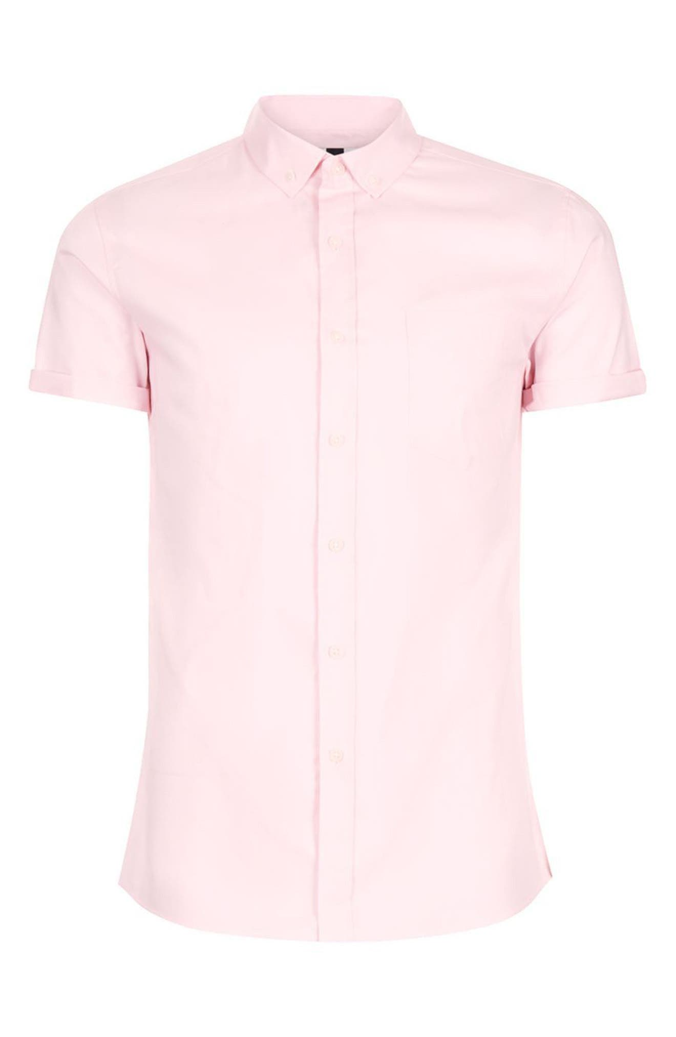 Slim Fit Stretch Oxford Shirt,                             Alternate thumbnail 7, color,