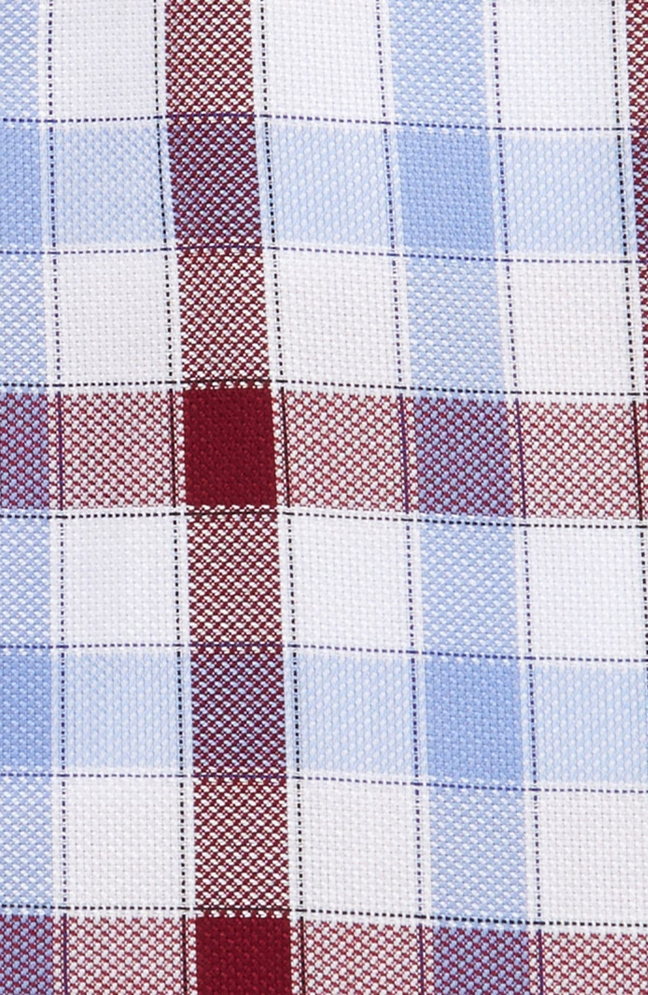 Trim Fit Plaid Dress Shirt,                             Alternate thumbnail 6, color,