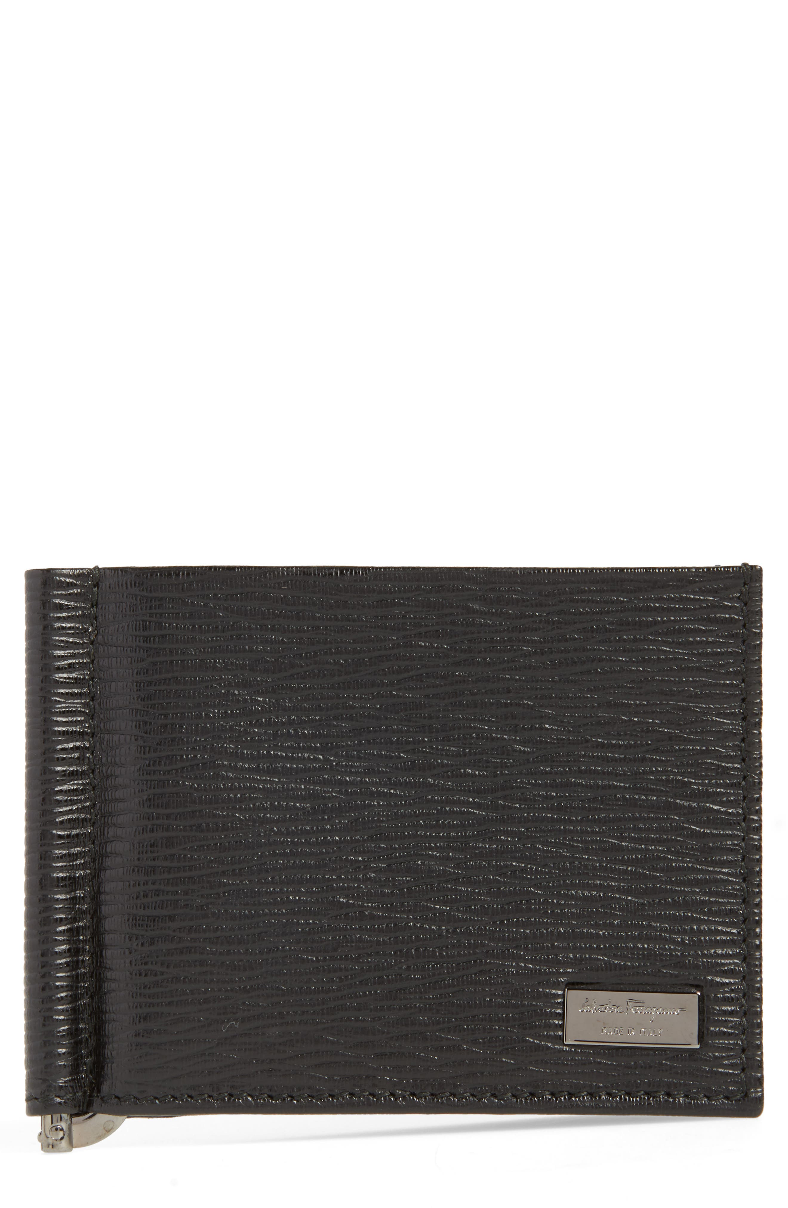Revival Bifold Leather Wallet,                         Main,                         color, NERO