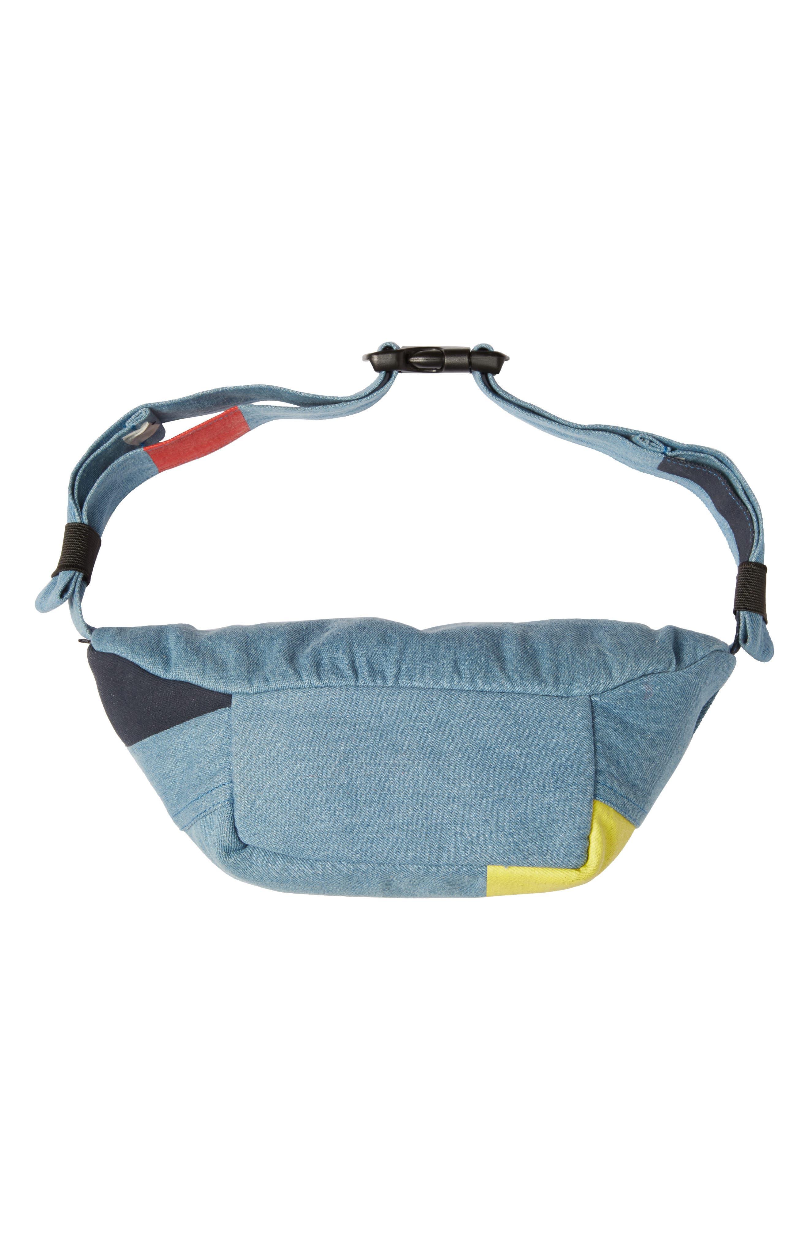 WESC,                             Usher Colorblock Denim Belt Bag,                             Alternate thumbnail 7, color,                             CERULEAN BLUE