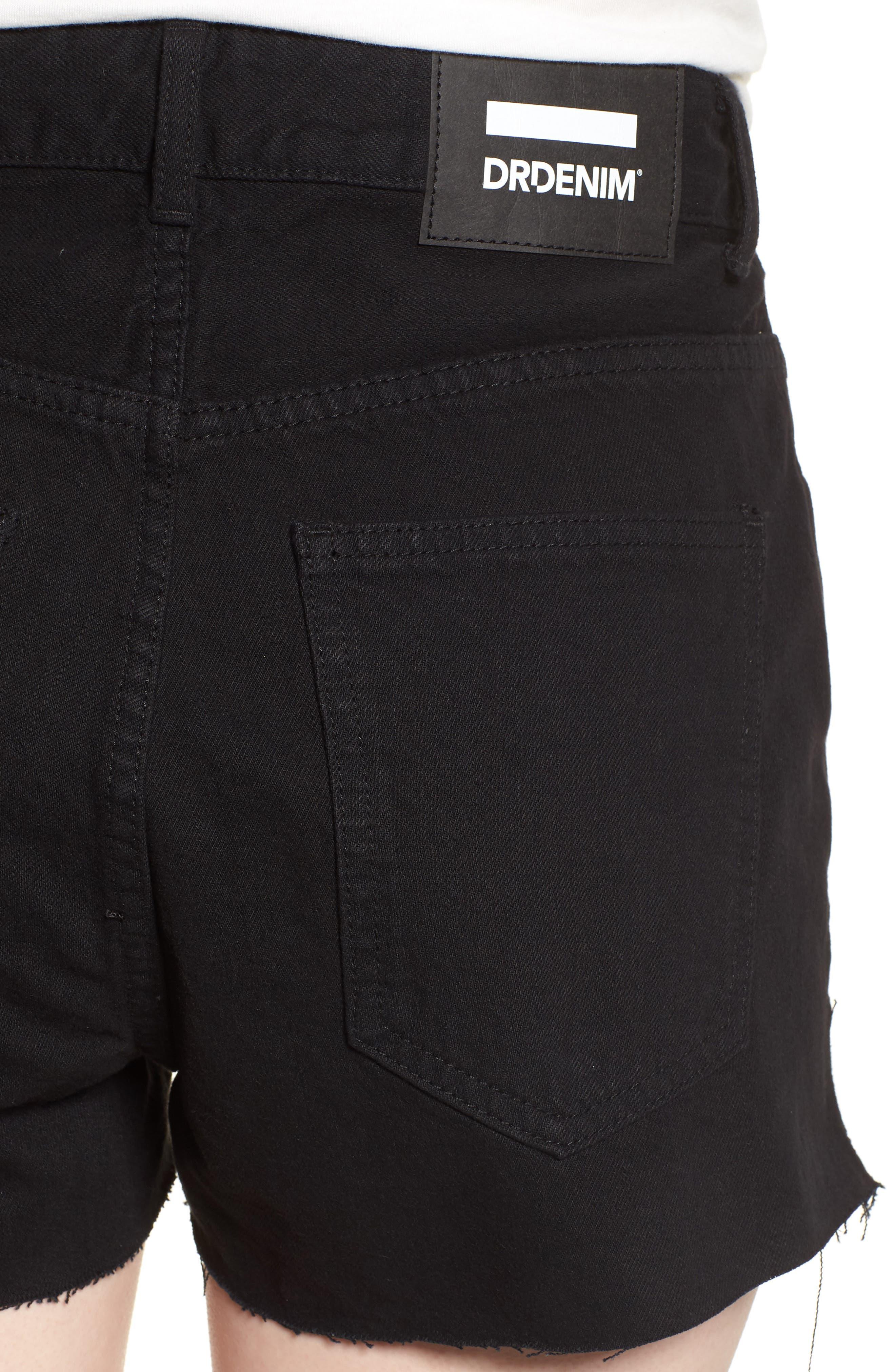 Vega Denim Shorts,                             Alternate thumbnail 4, color,                             001