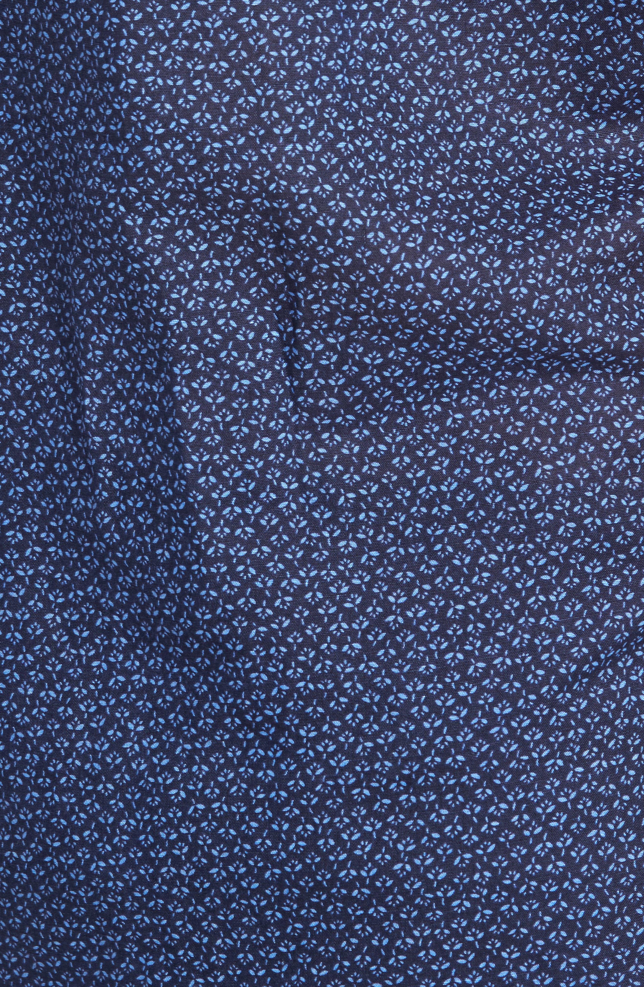 Windermere Linen & Cotton Sport Shirt,                             Alternate thumbnail 5, color,                             INDIGO