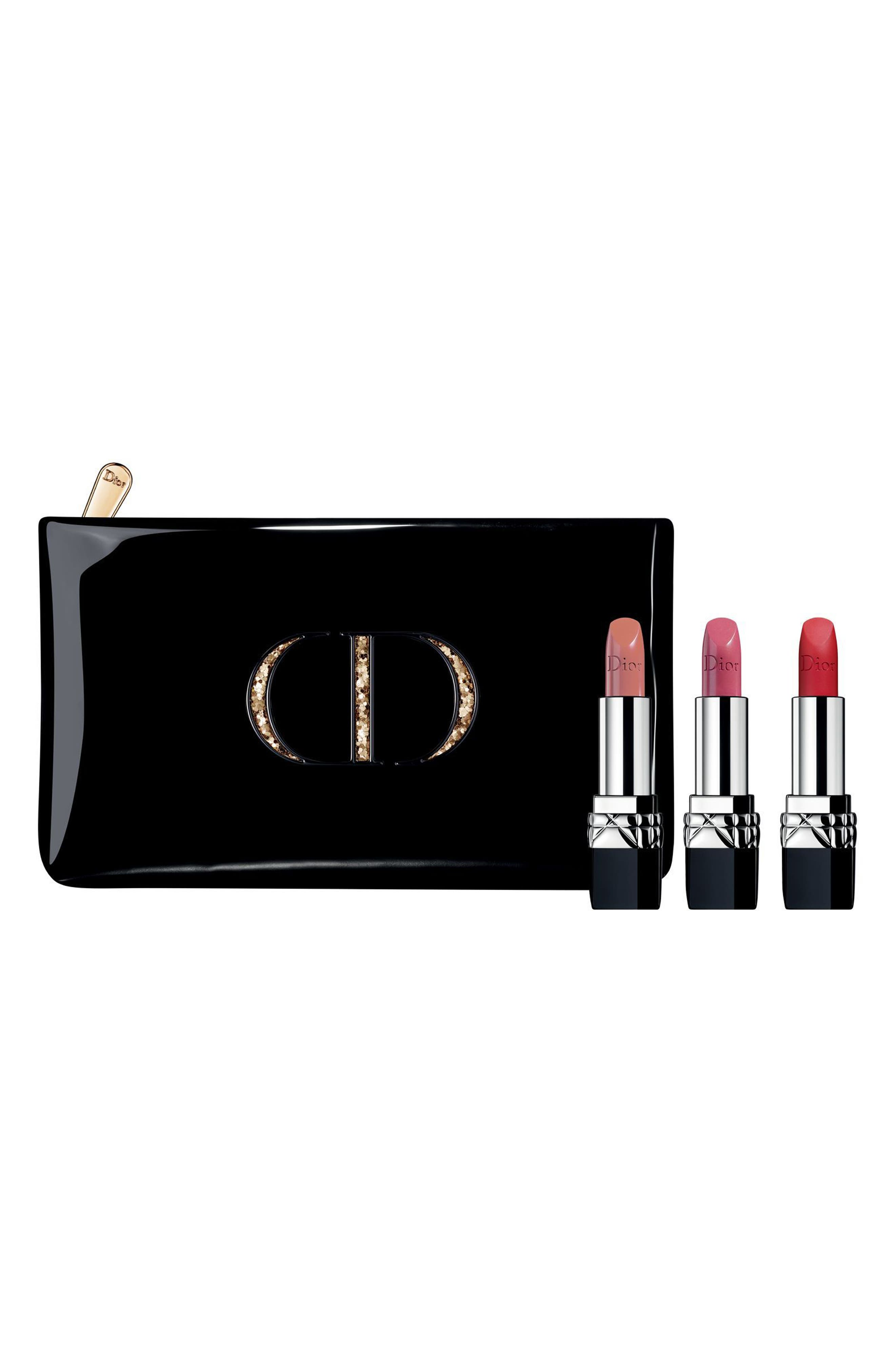 Rouge Dior Lipstick Trio,                             Main thumbnail 1, color,                             000
