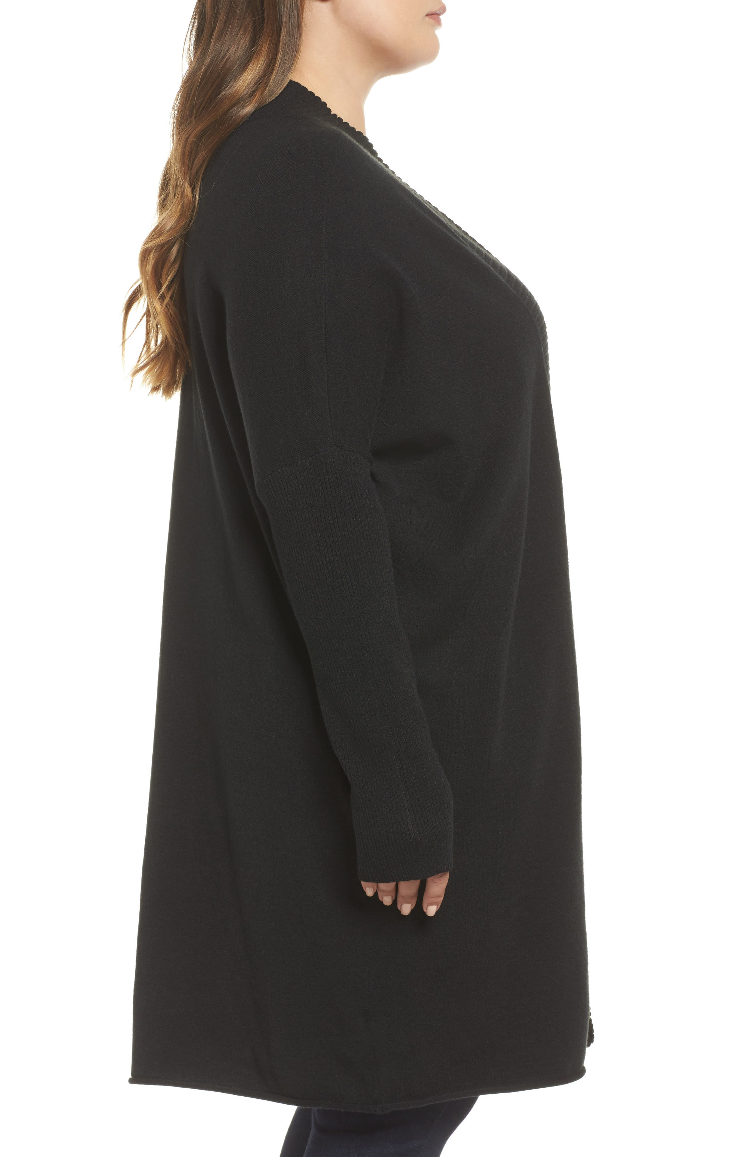 Off-Duty Long Open Front Cardigan,                             Alternate thumbnail 7, color,