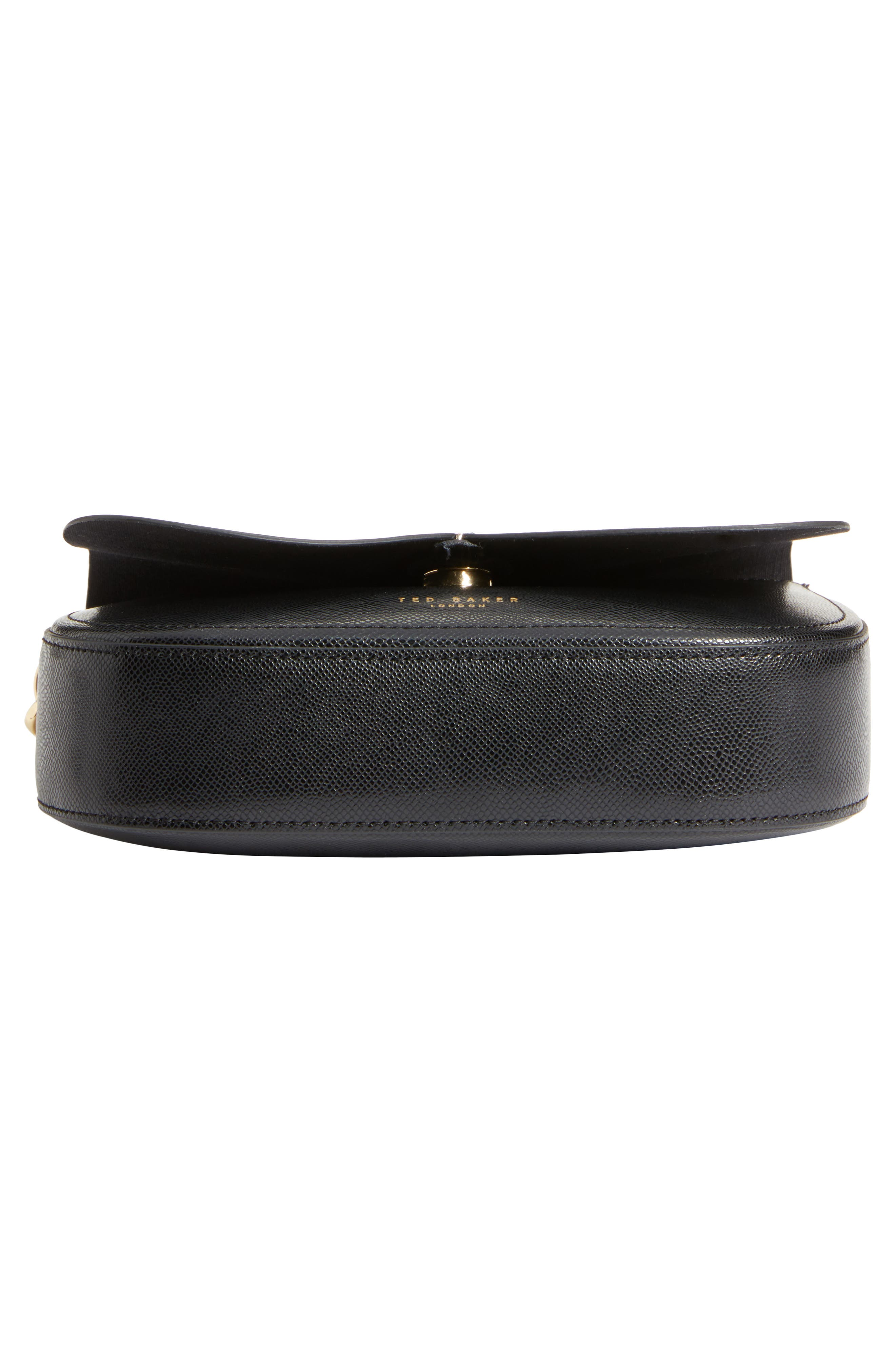 Kittii Cat Leather Crossbody Bag,                             Alternate thumbnail 6, color,                             001