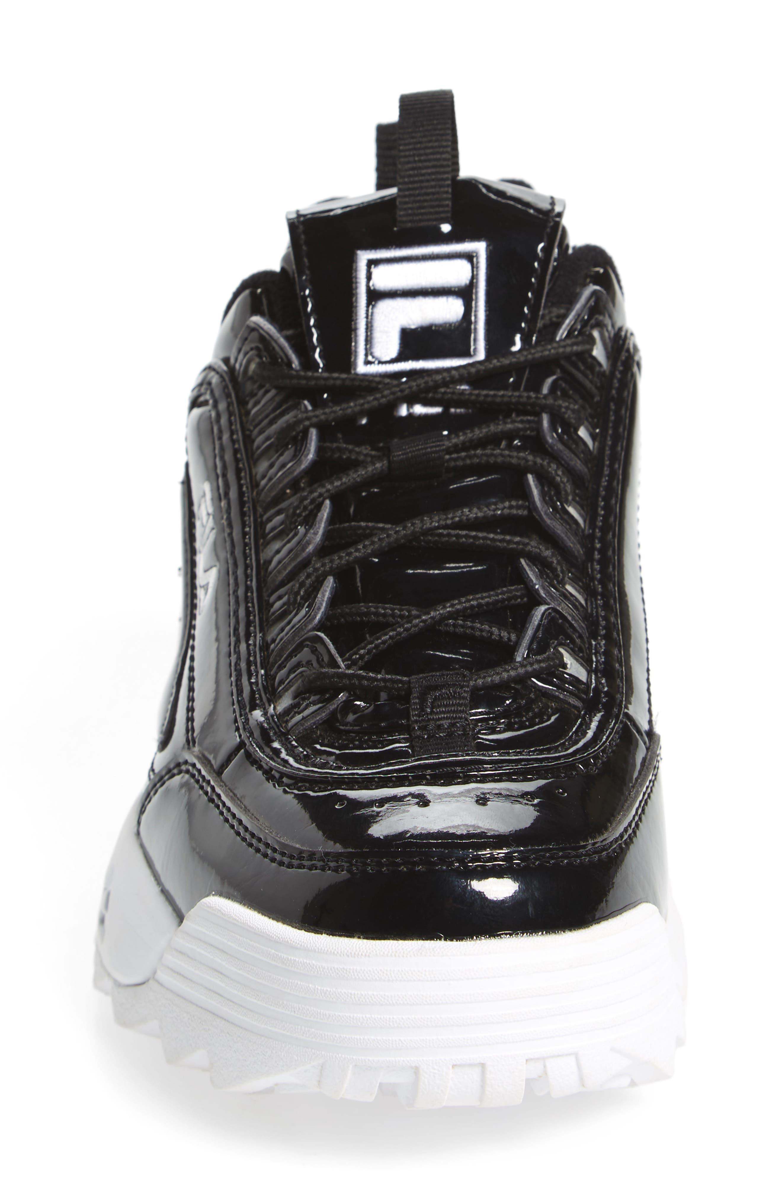 Disruptor II Premium Patent Sneaker,                             Alternate thumbnail 4, color,                             014