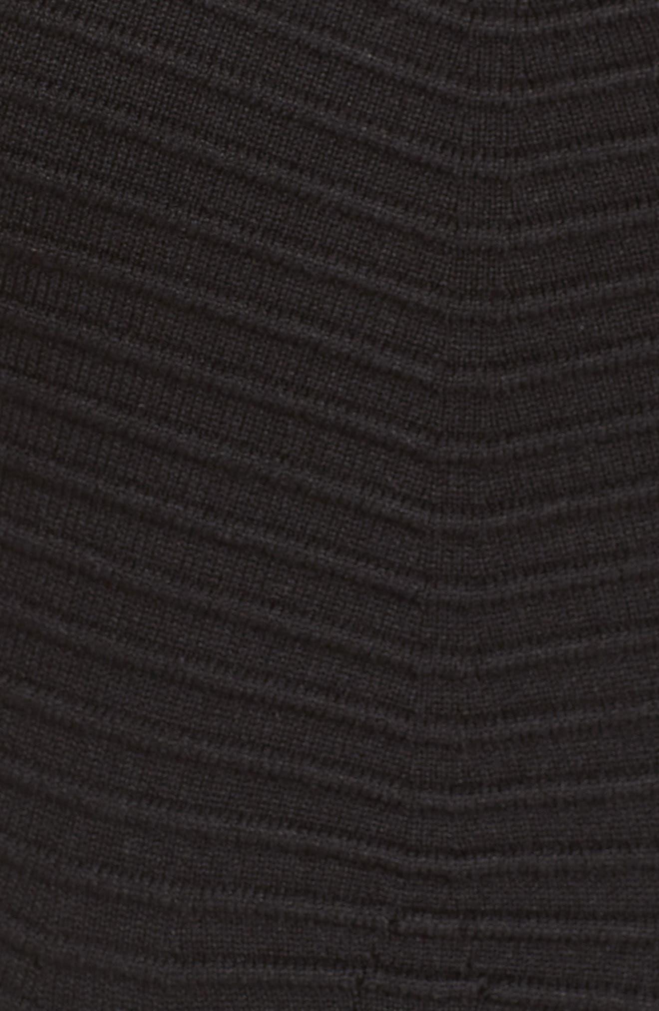 Chevron Fit & Flare Dress,                             Alternate thumbnail 6, color,                             001