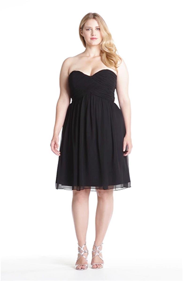 Donna Morgan  Morgan  Strapless Silk Chiffon Dress  82a7e22b8