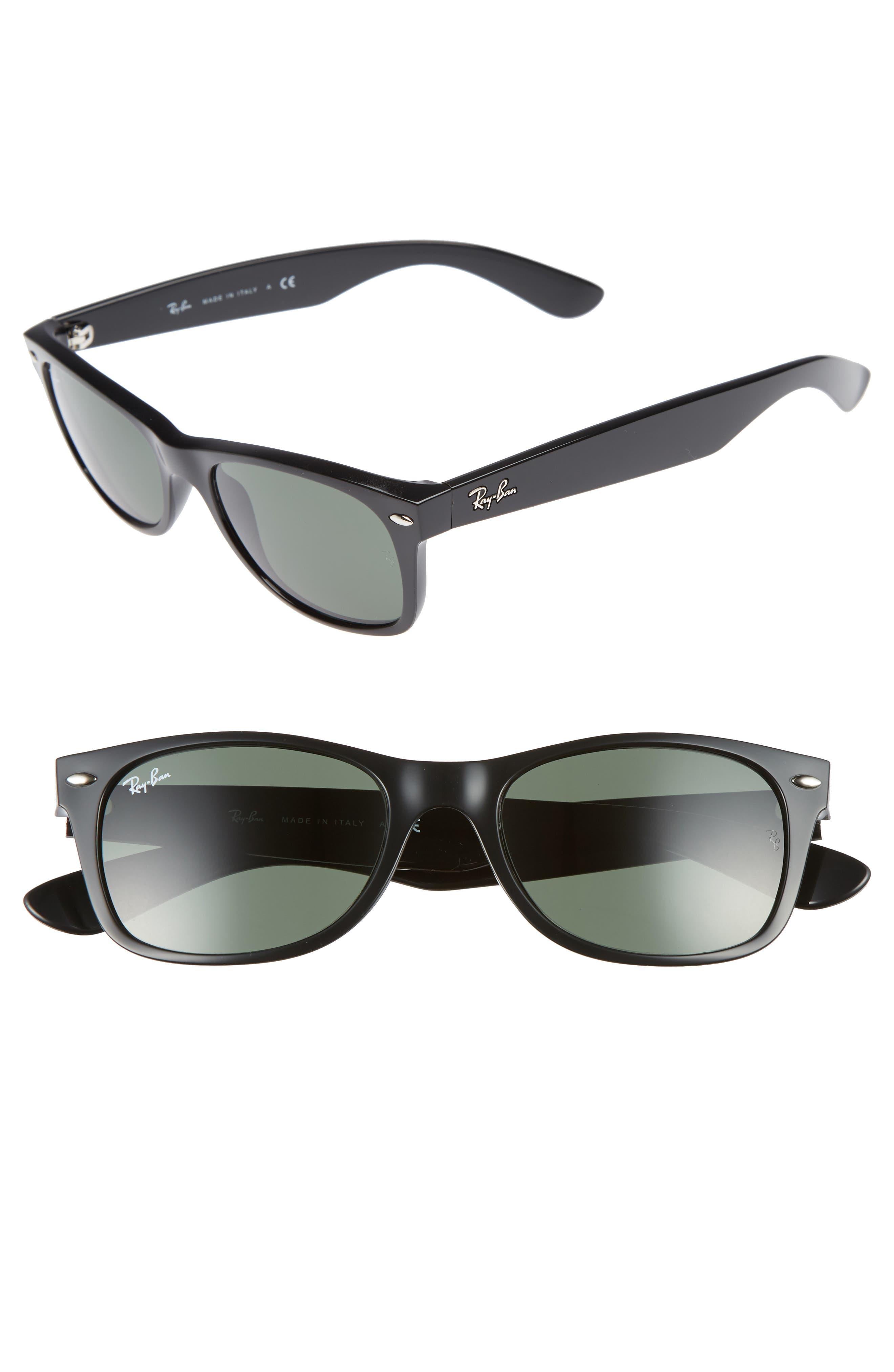 Small New Wayfarer 52mm Sunglasses,                             Alternate thumbnail 2, color,                             002