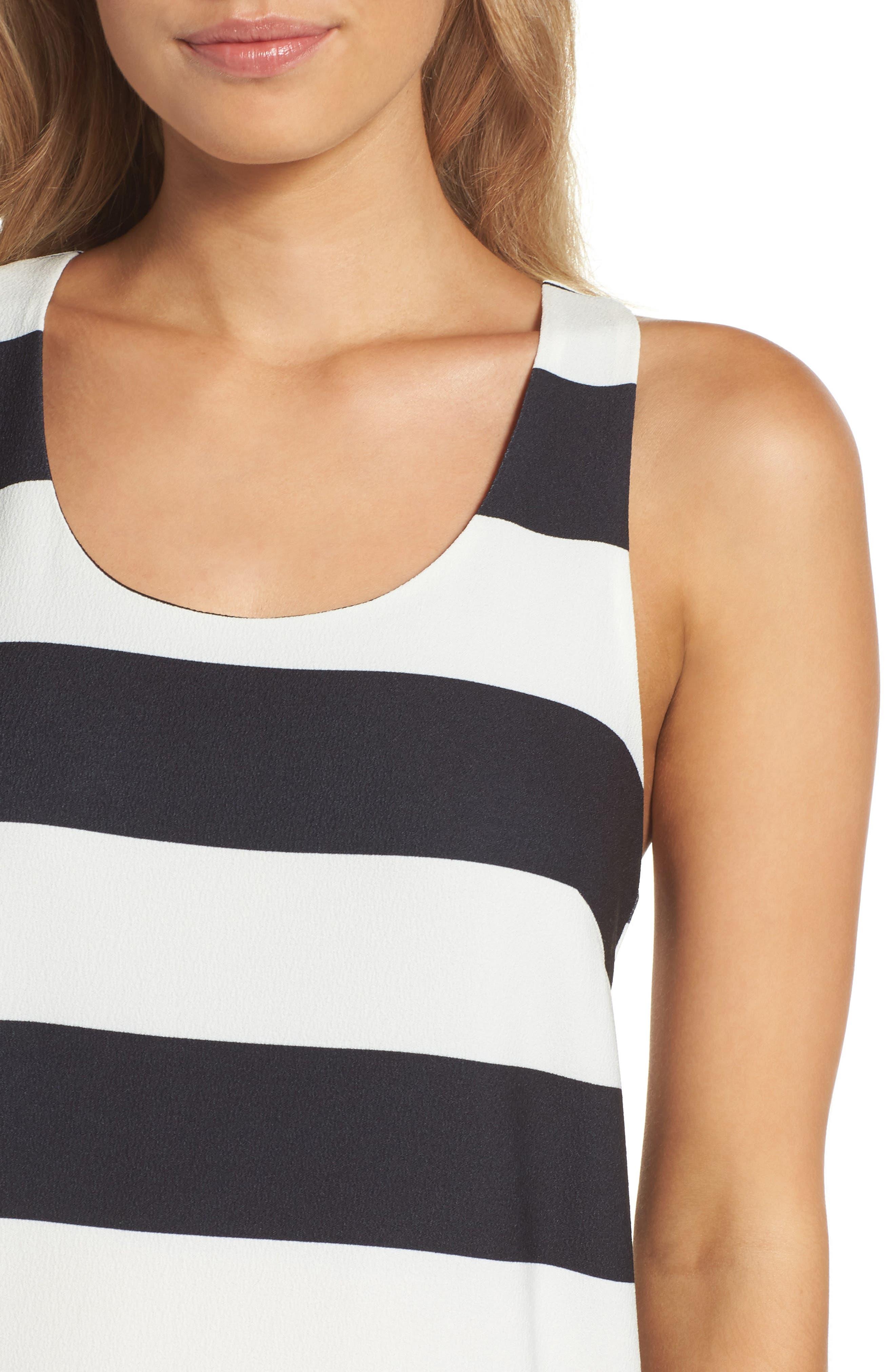 Sandy A-Line Dress,                             Alternate thumbnail 4, color,                             002