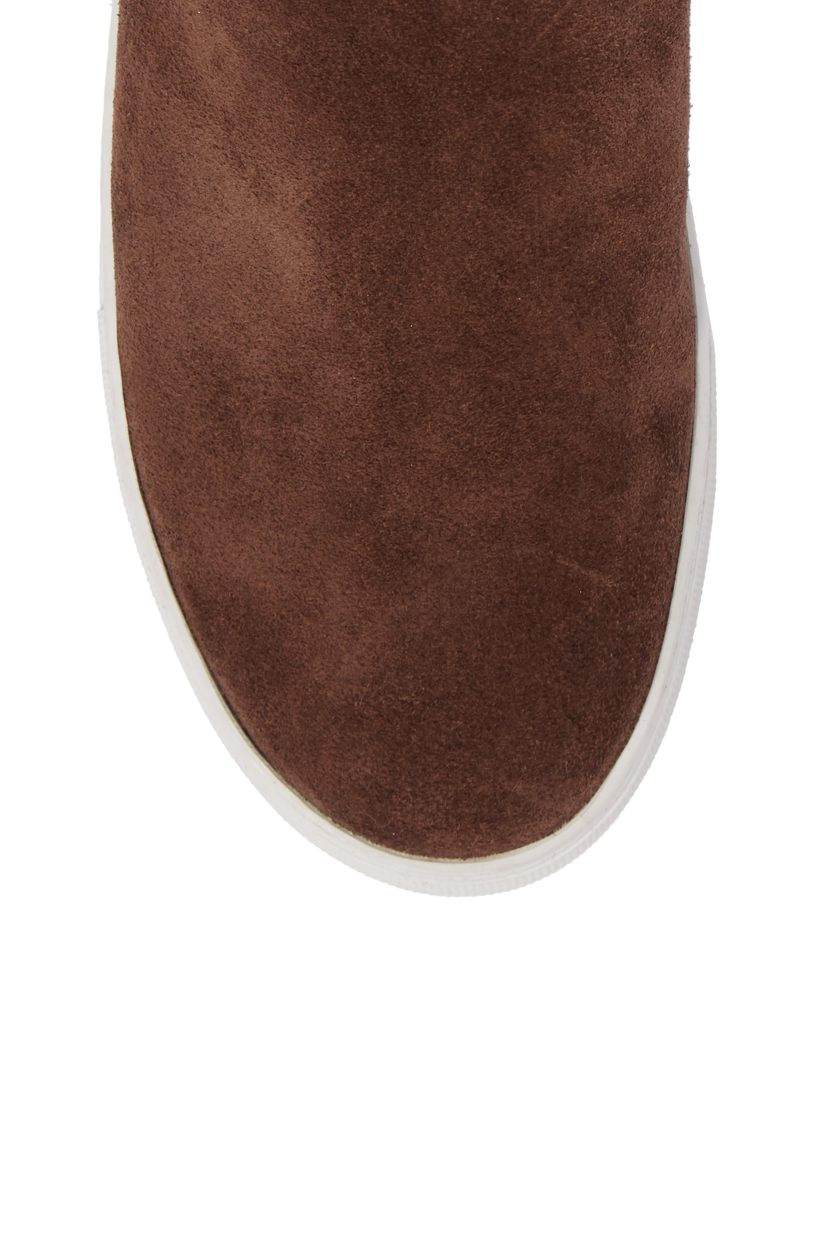 Allie Faux Fur Lined Platform Boot,                             Alternate thumbnail 5, color,                             BROWN SUEDE