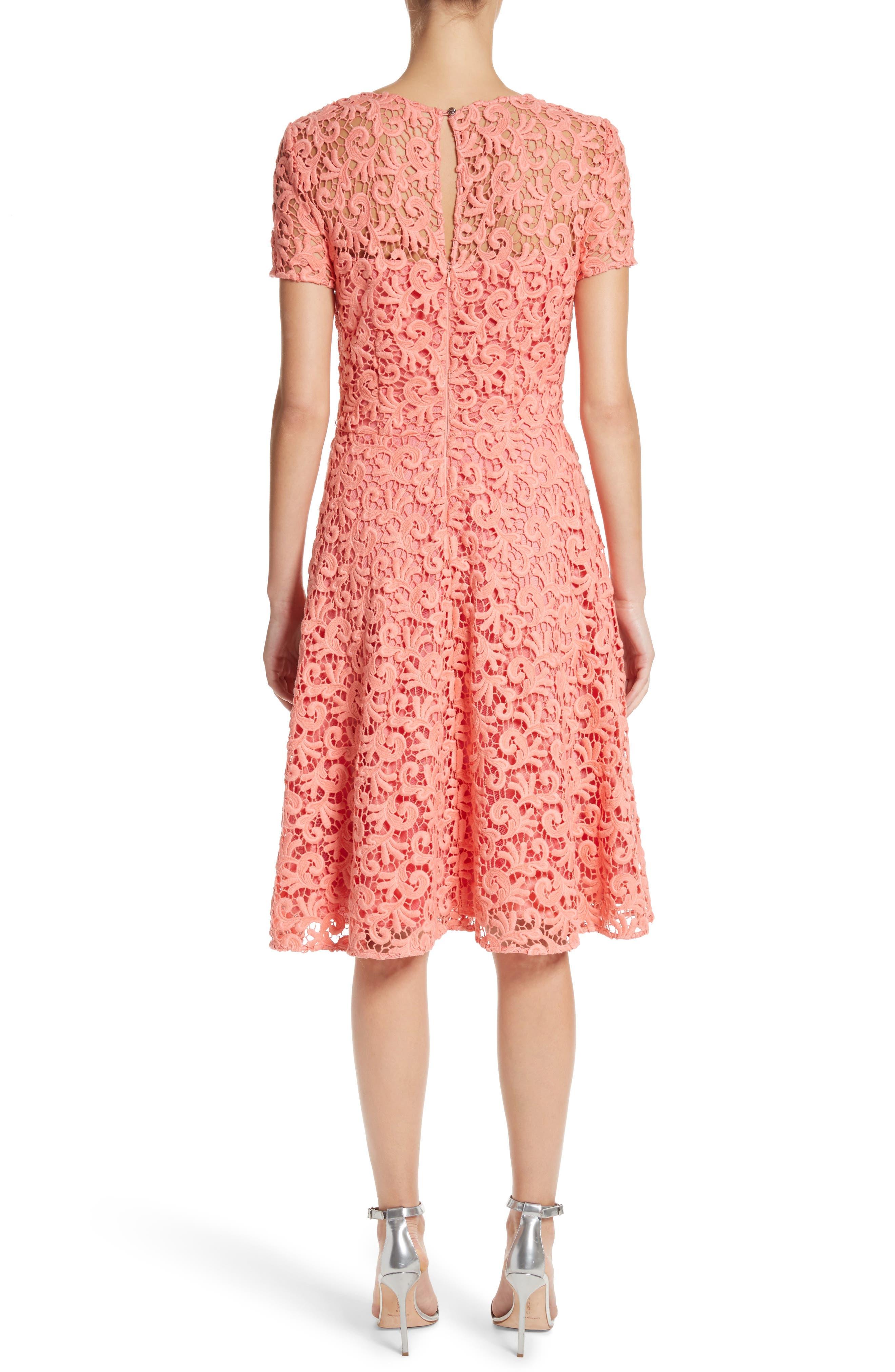 Paisley Guipure Lace Dress,                             Alternate thumbnail 2, color,                             950