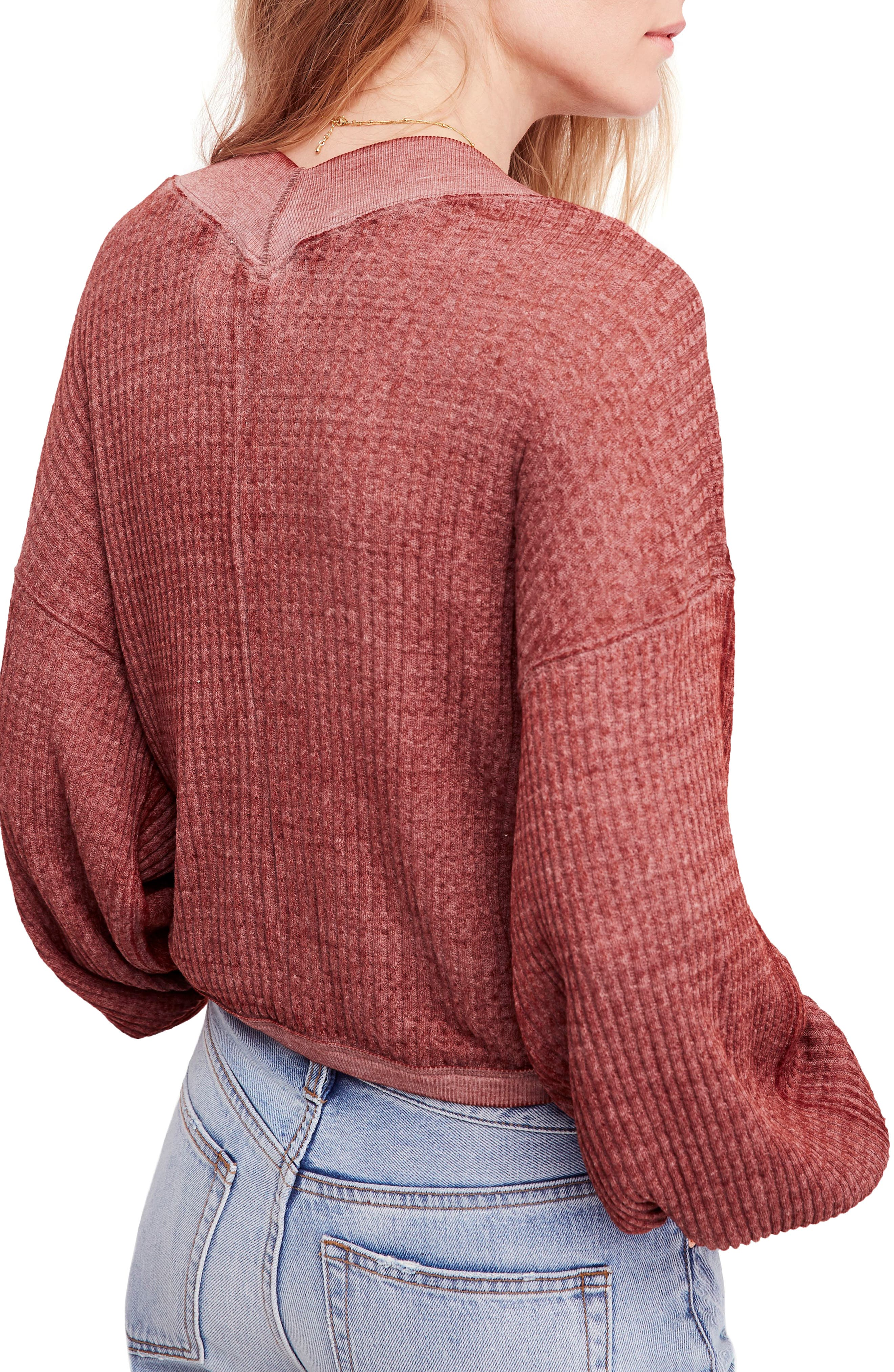 We the Free by Free People South Side Thermal Top,                             Alternate thumbnail 2, color,                             CINNAMON