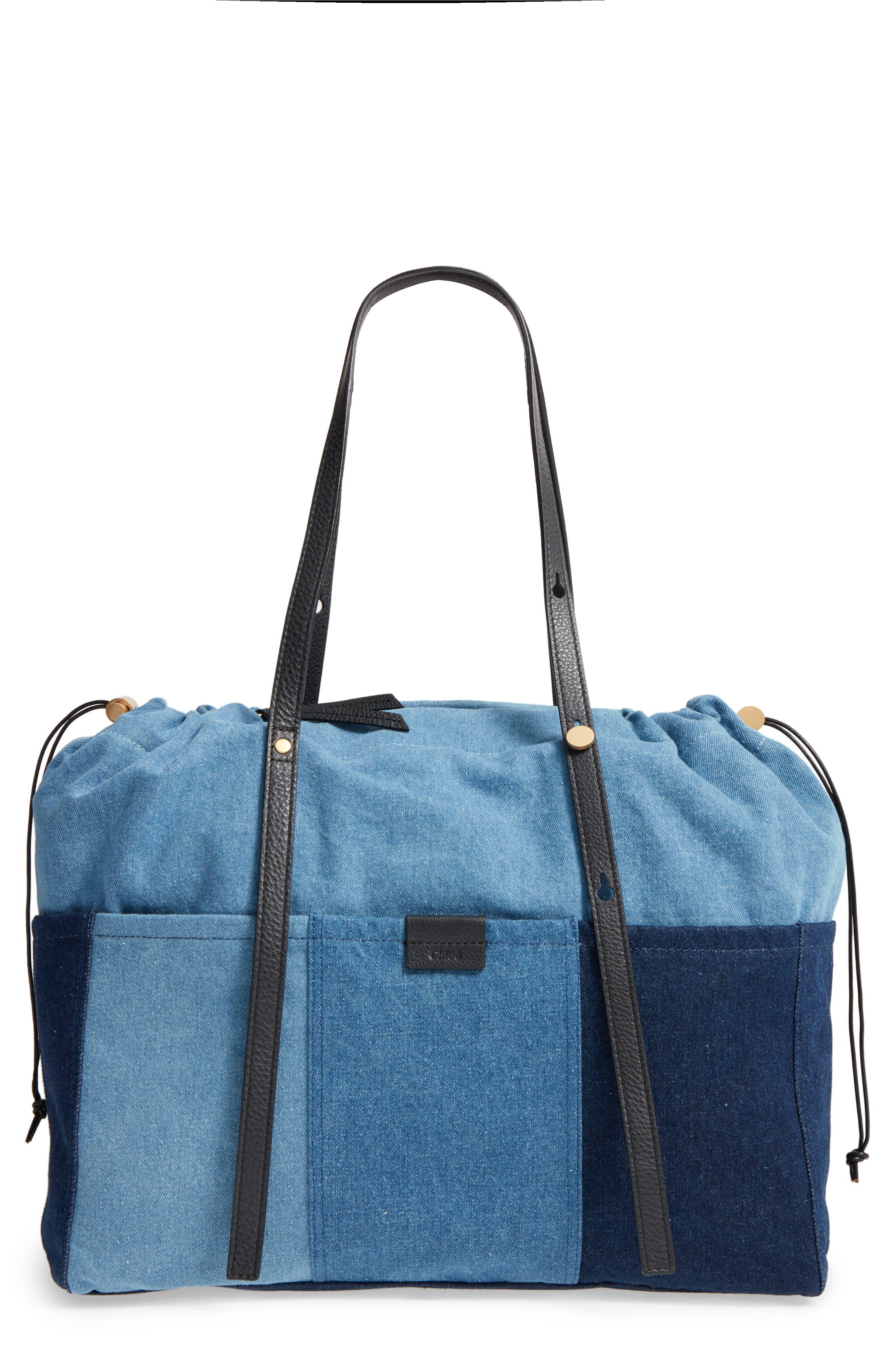 Denim Diaper Bag,                             Main thumbnail 1, color,                             460