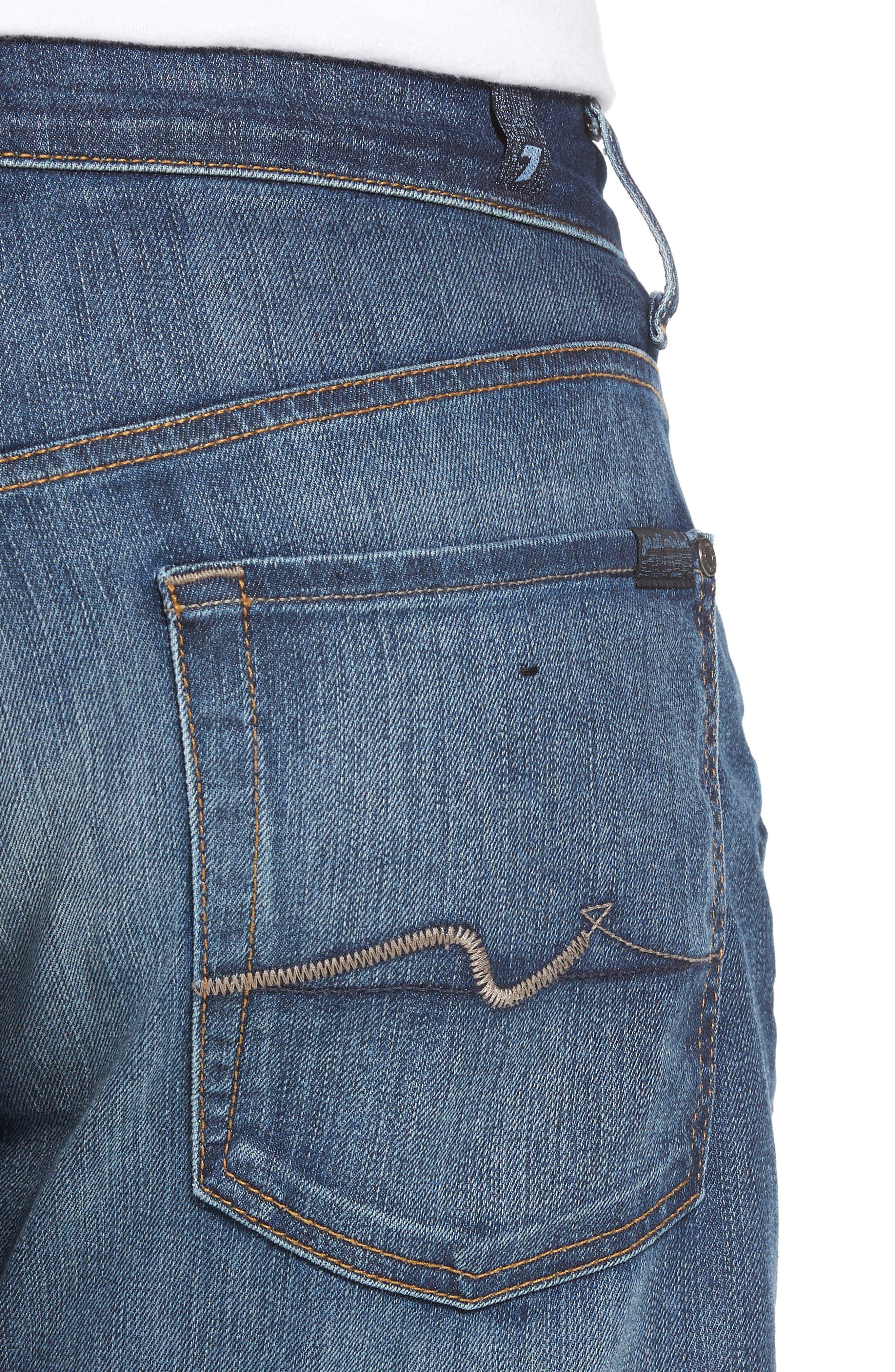 The Straight Slim Straight Leg Jeans,                             Alternate thumbnail 4, color,                             RECON