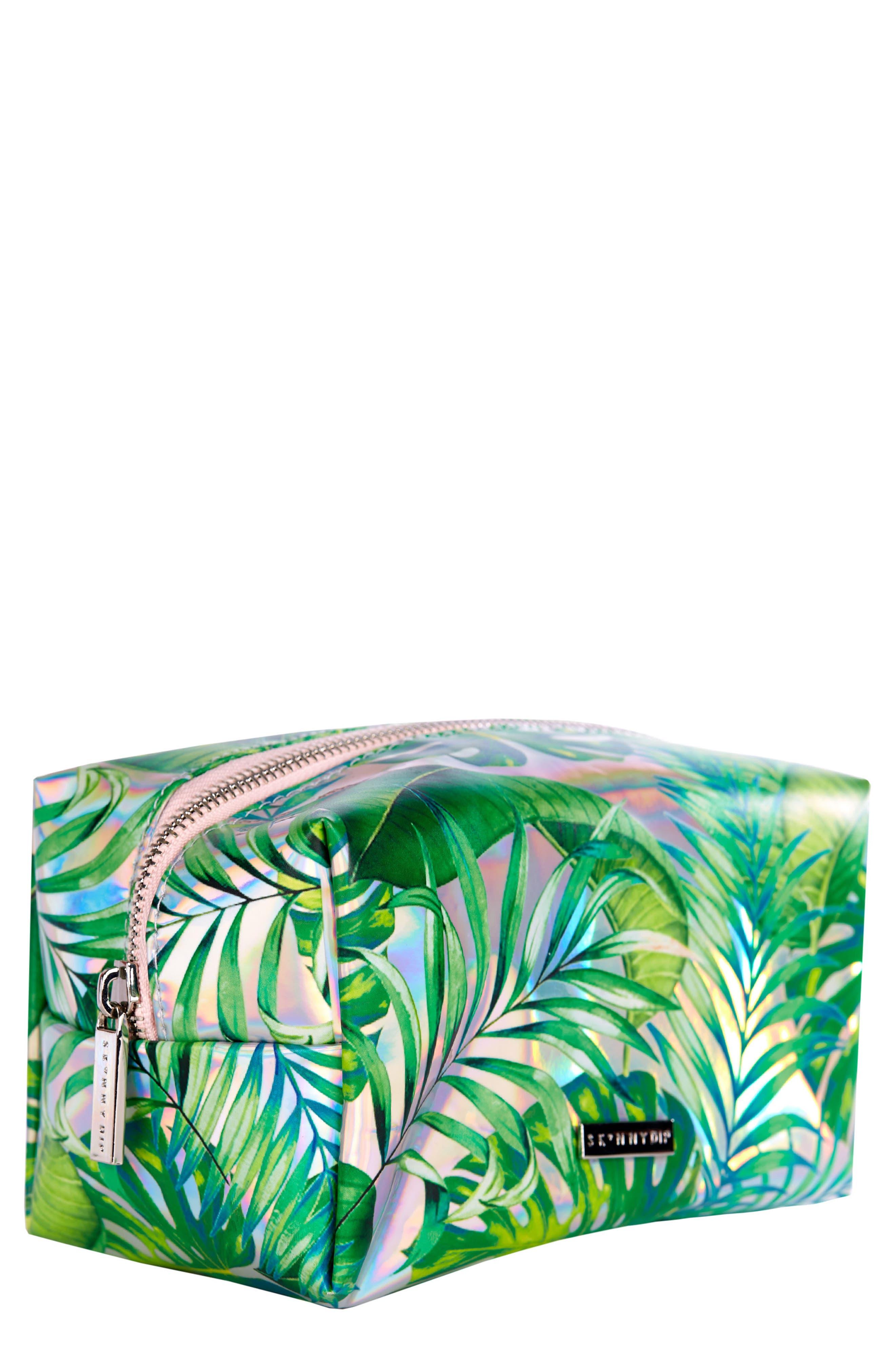 SKINNYDIP,                             Skinny Dip Dominica Cosmetics Case,                             Main thumbnail 1, color,                             000