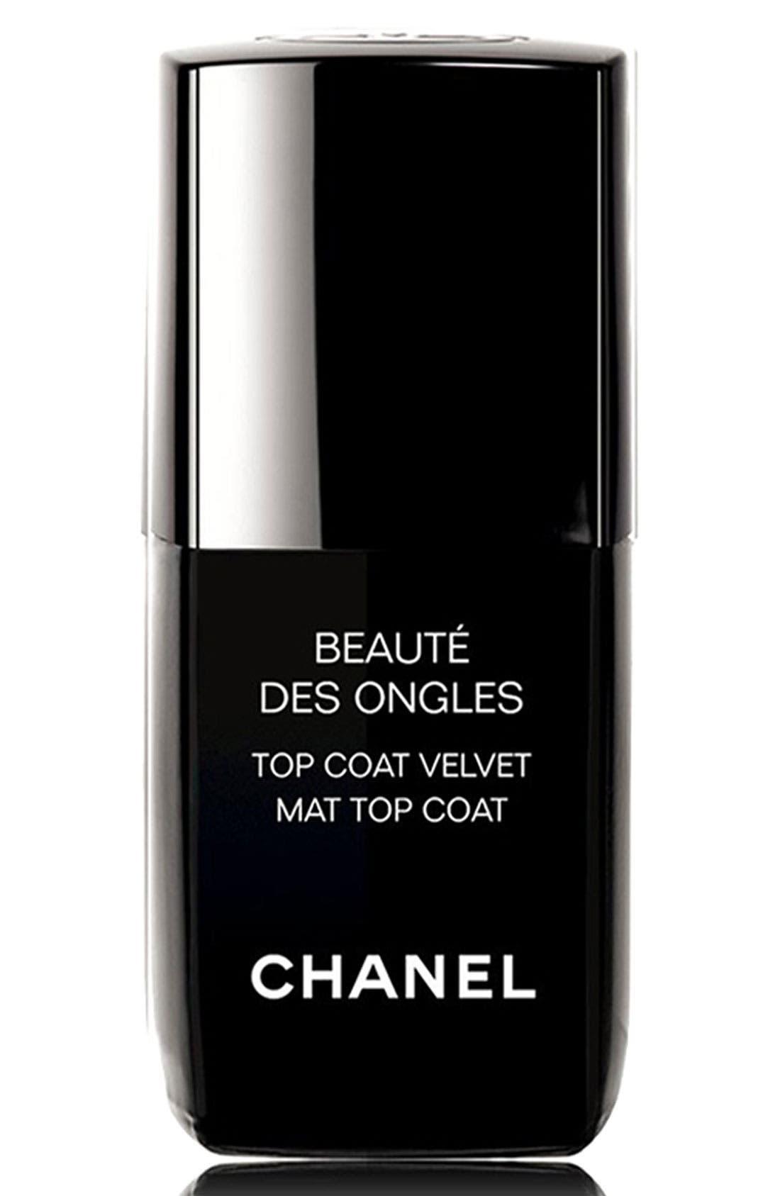 BEAUTE DES ONGLES<br />Top Coat Velvet,                             Main thumbnail 1, color,                             000