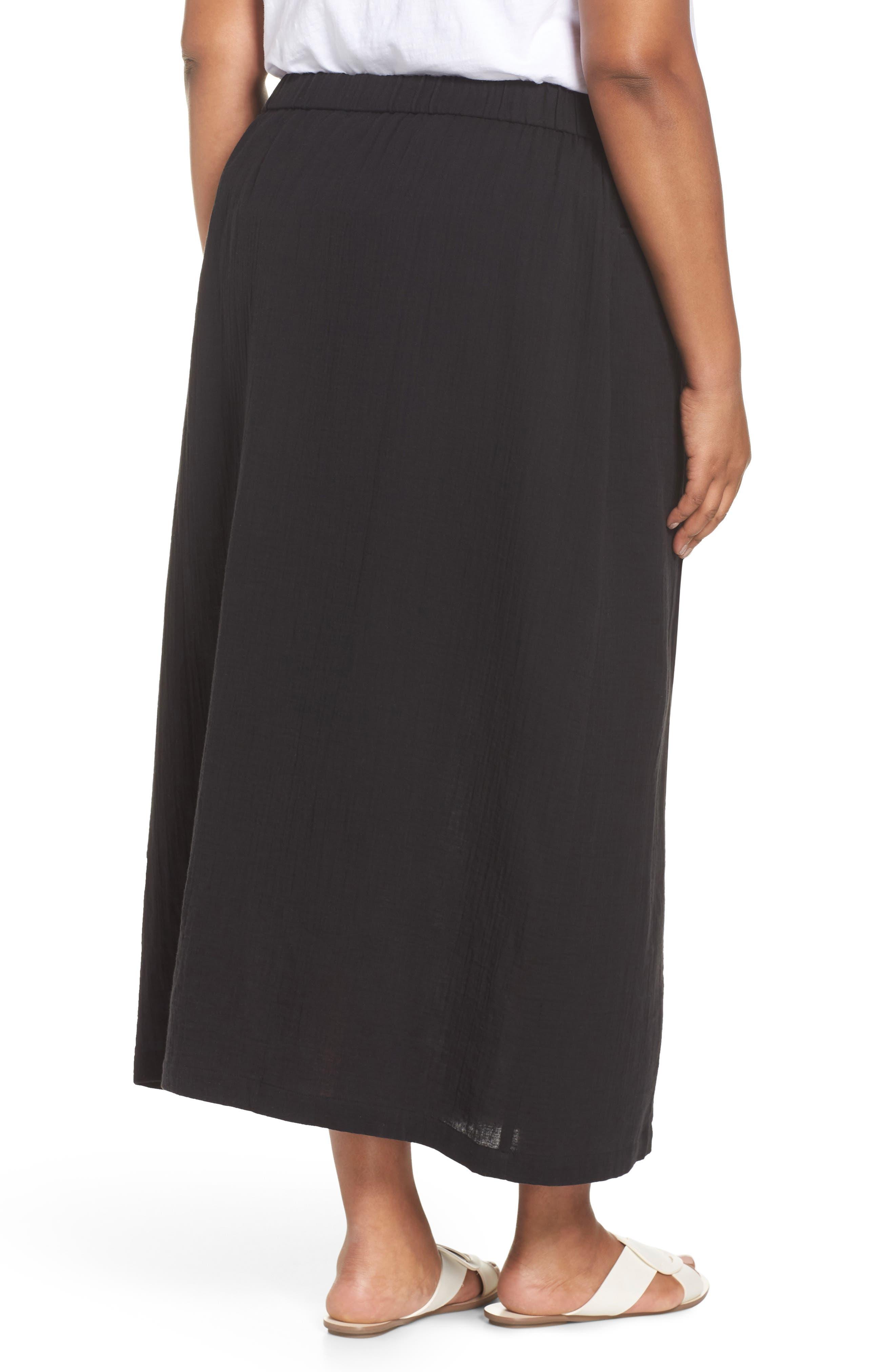 Drawstring Maxi Skirt,                             Alternate thumbnail 2, color,                             001