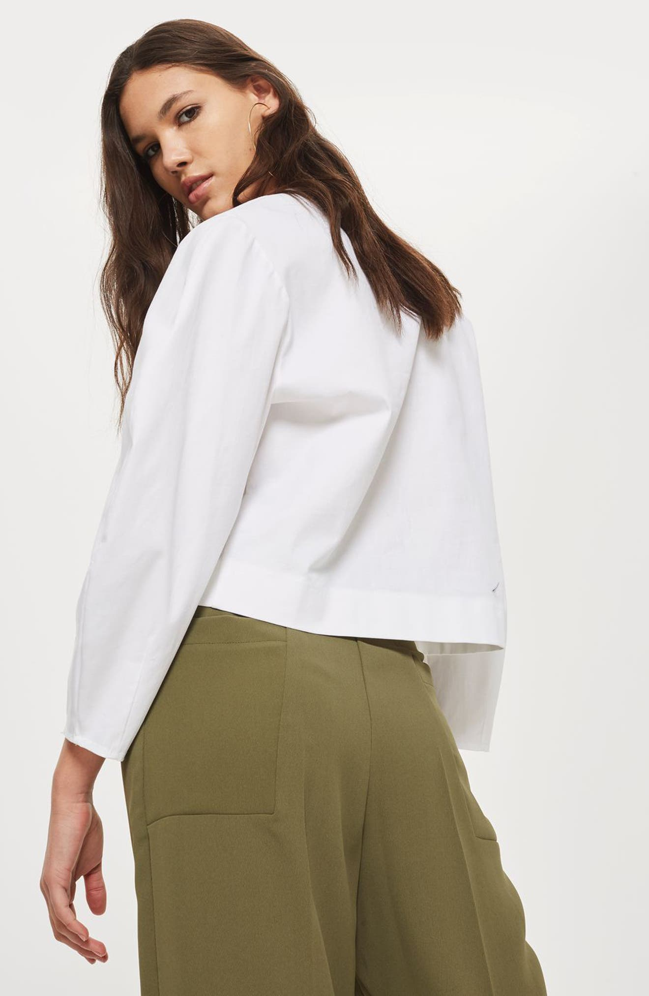 Wide Crop Utility Trousers,                             Alternate thumbnail 4, color,                             300