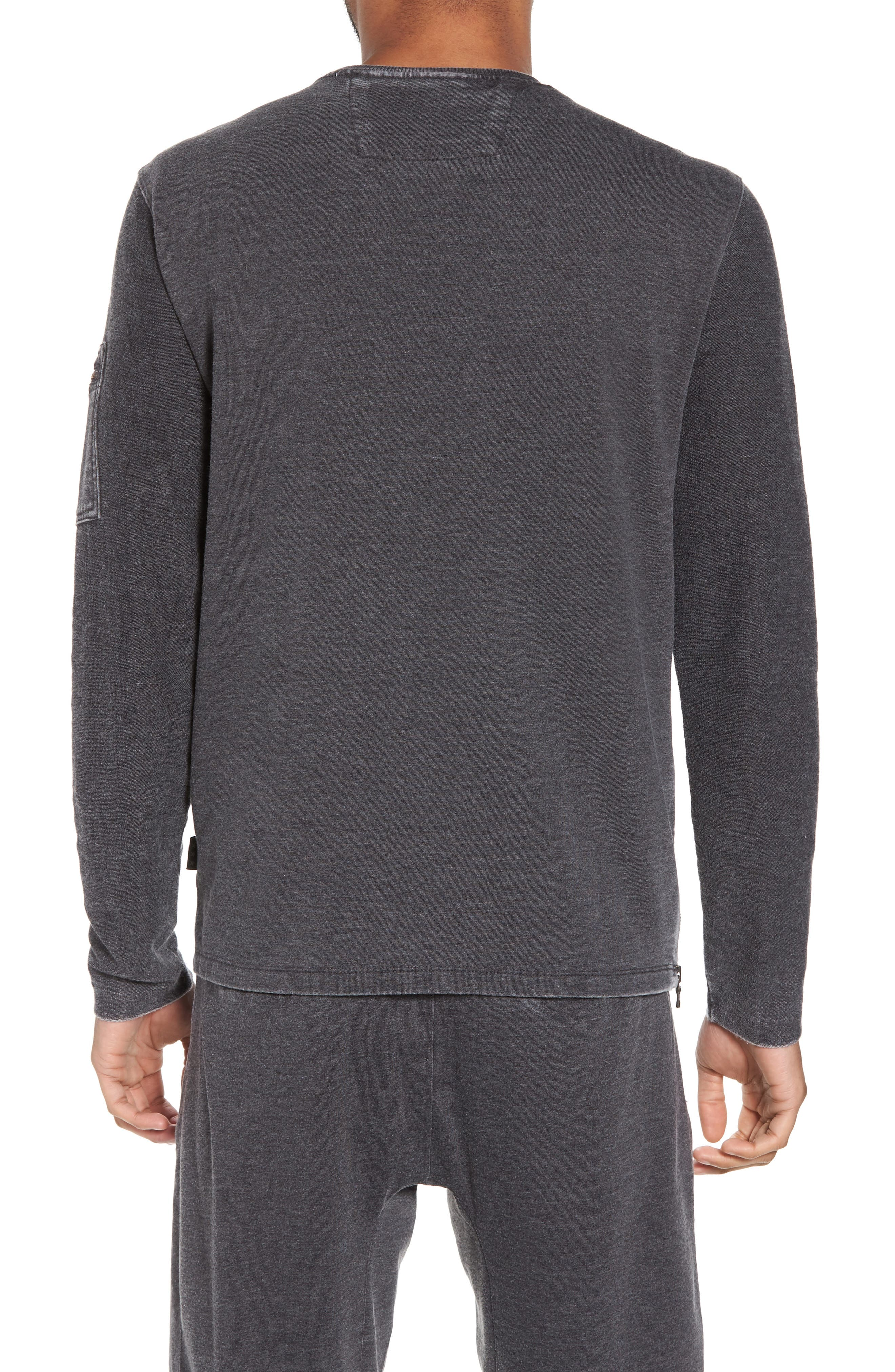 French Terry Crewneck Sweater,                             Alternate thumbnail 2, color,                             032
