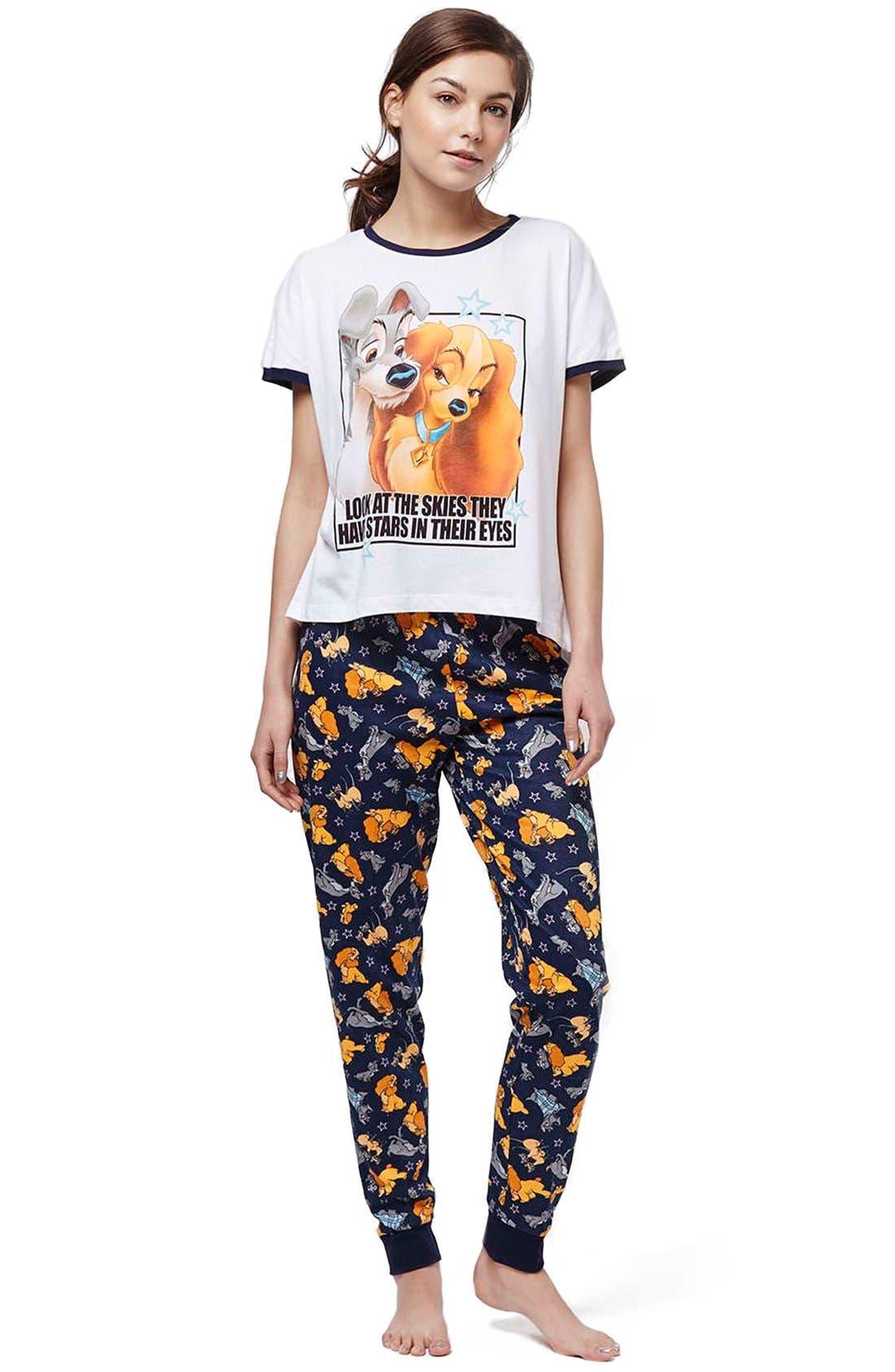 'Lady & the Tramp' Pajamas,                             Alternate thumbnail 2, color,                             050