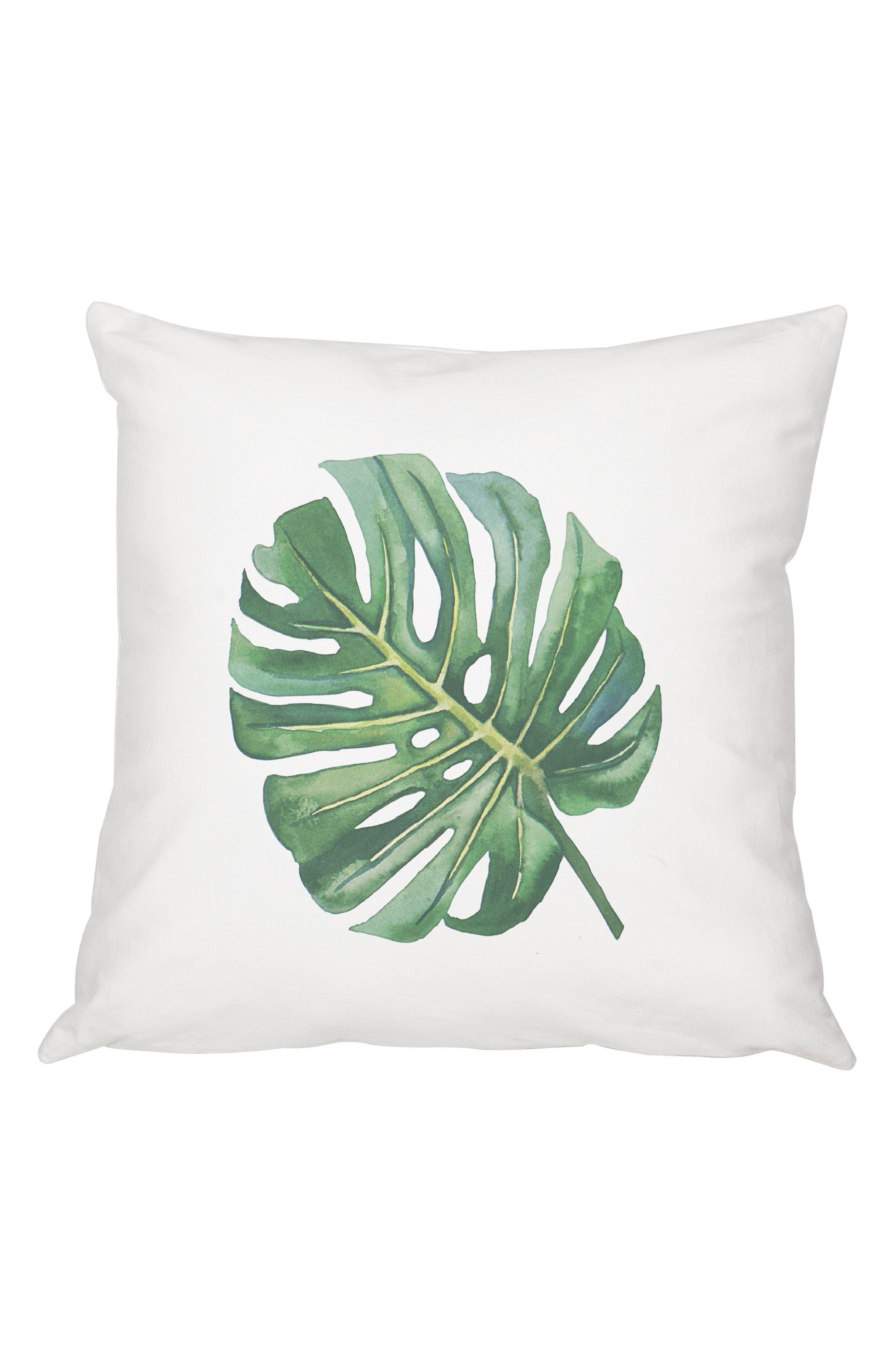 Palm Leaf Accent Pillow,                             Main thumbnail 1, color,                             300
